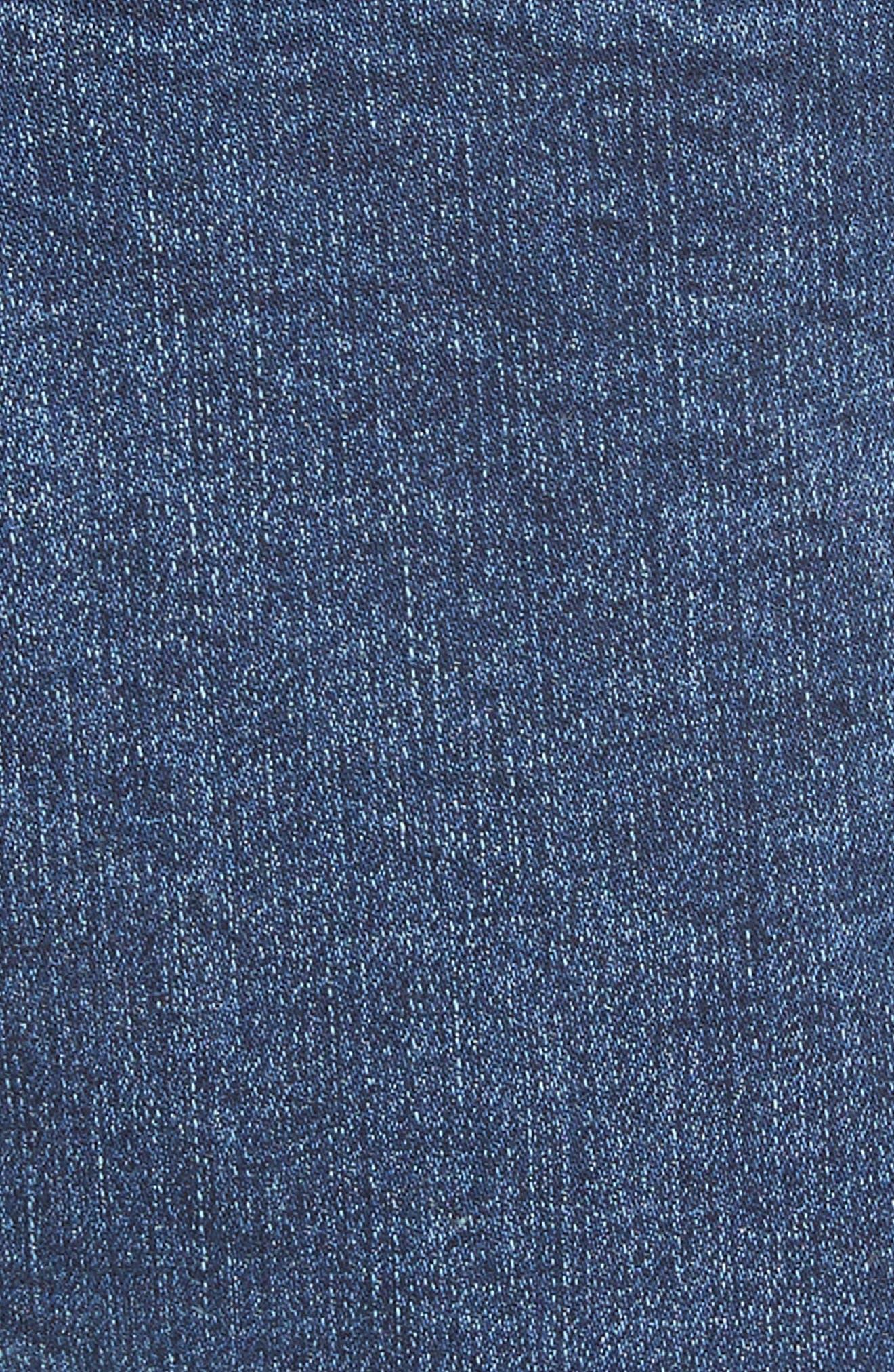 Lace-Up High Waist Denim Leggings,                             Alternate thumbnail 5, color,                             400