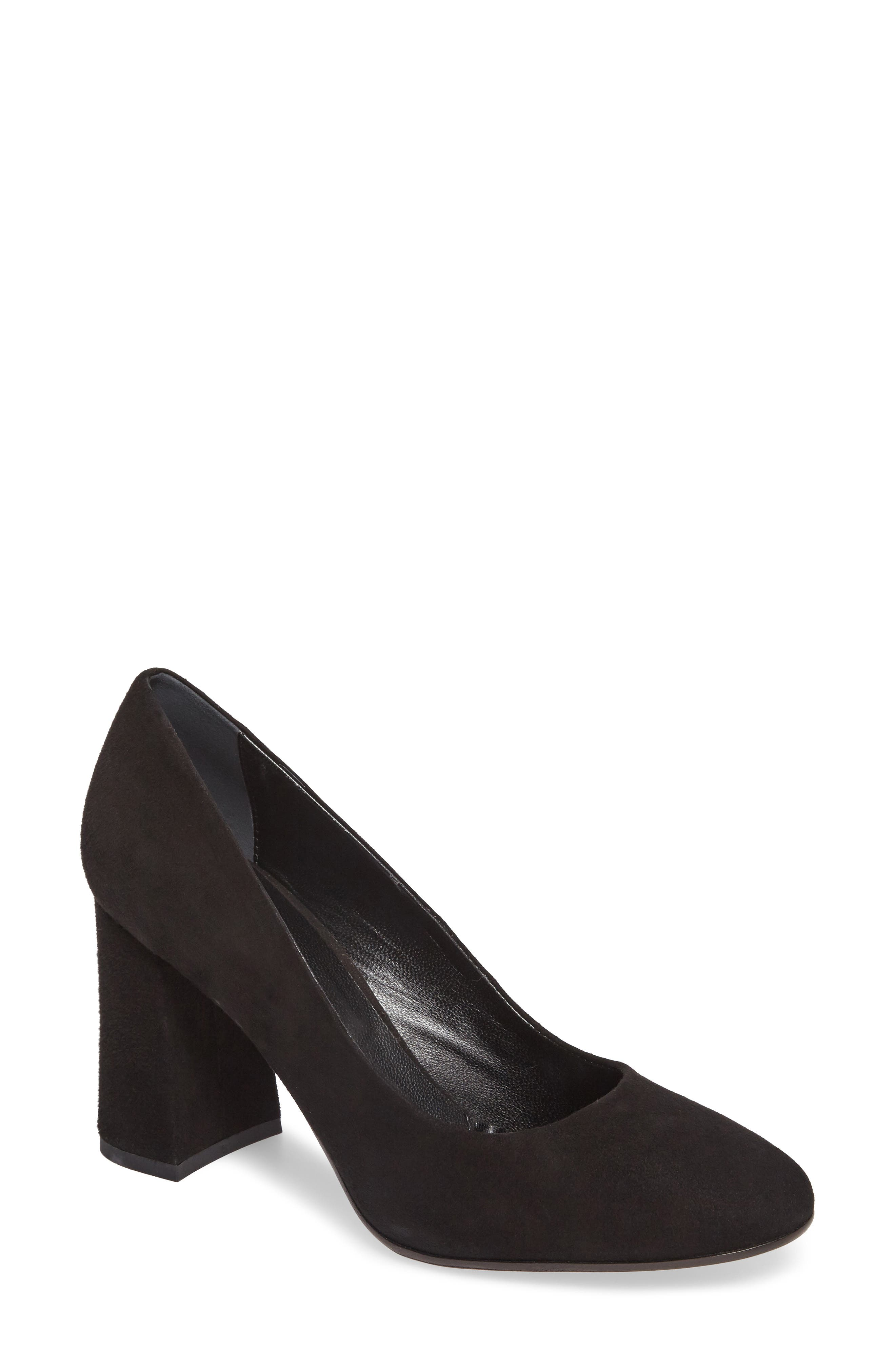 Hanette Pump,                             Main thumbnail 1, color,                             BLACK SUEDE