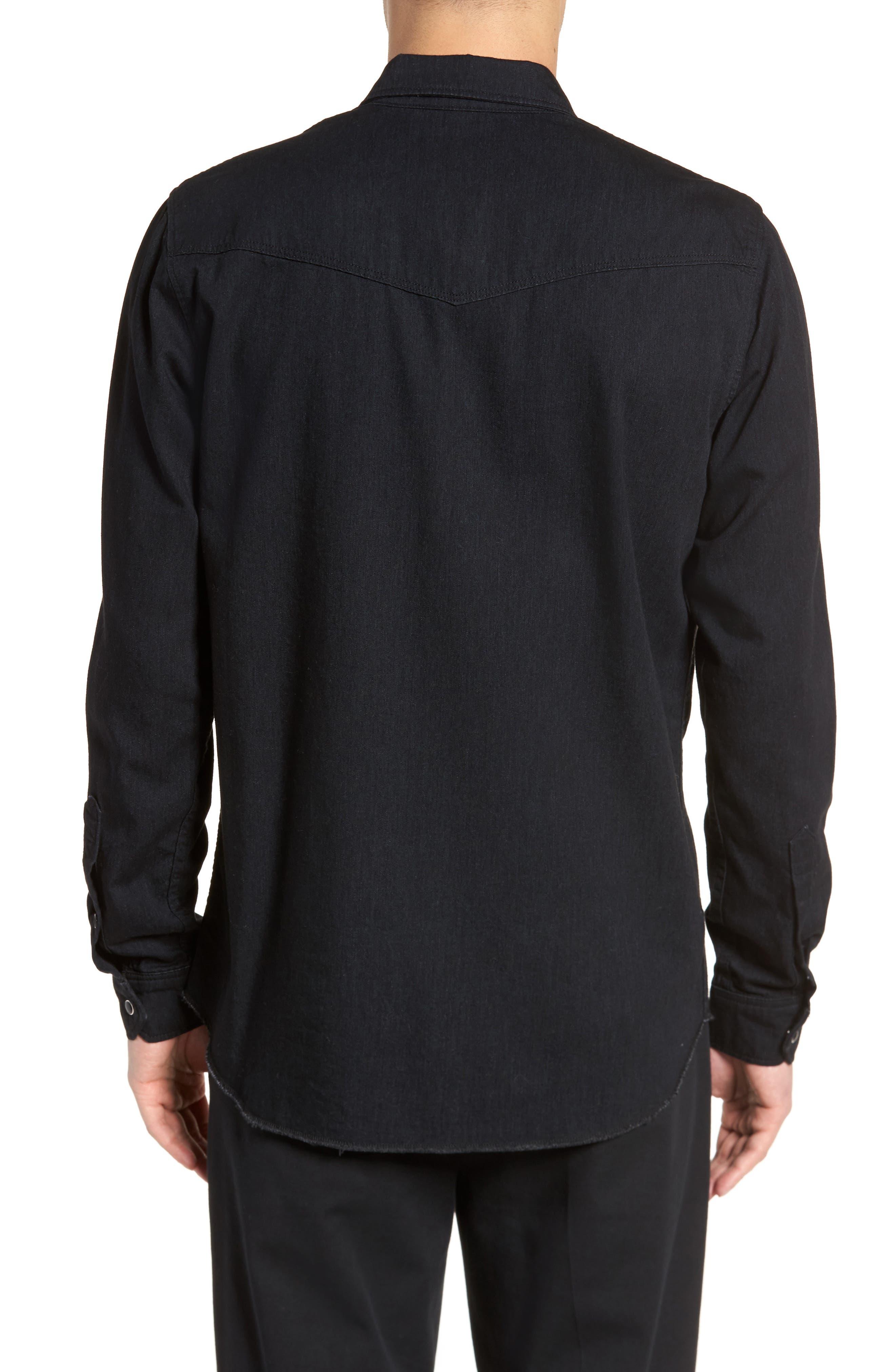 Western Chambray Sport Shirt,                             Alternate thumbnail 2, color,                             001