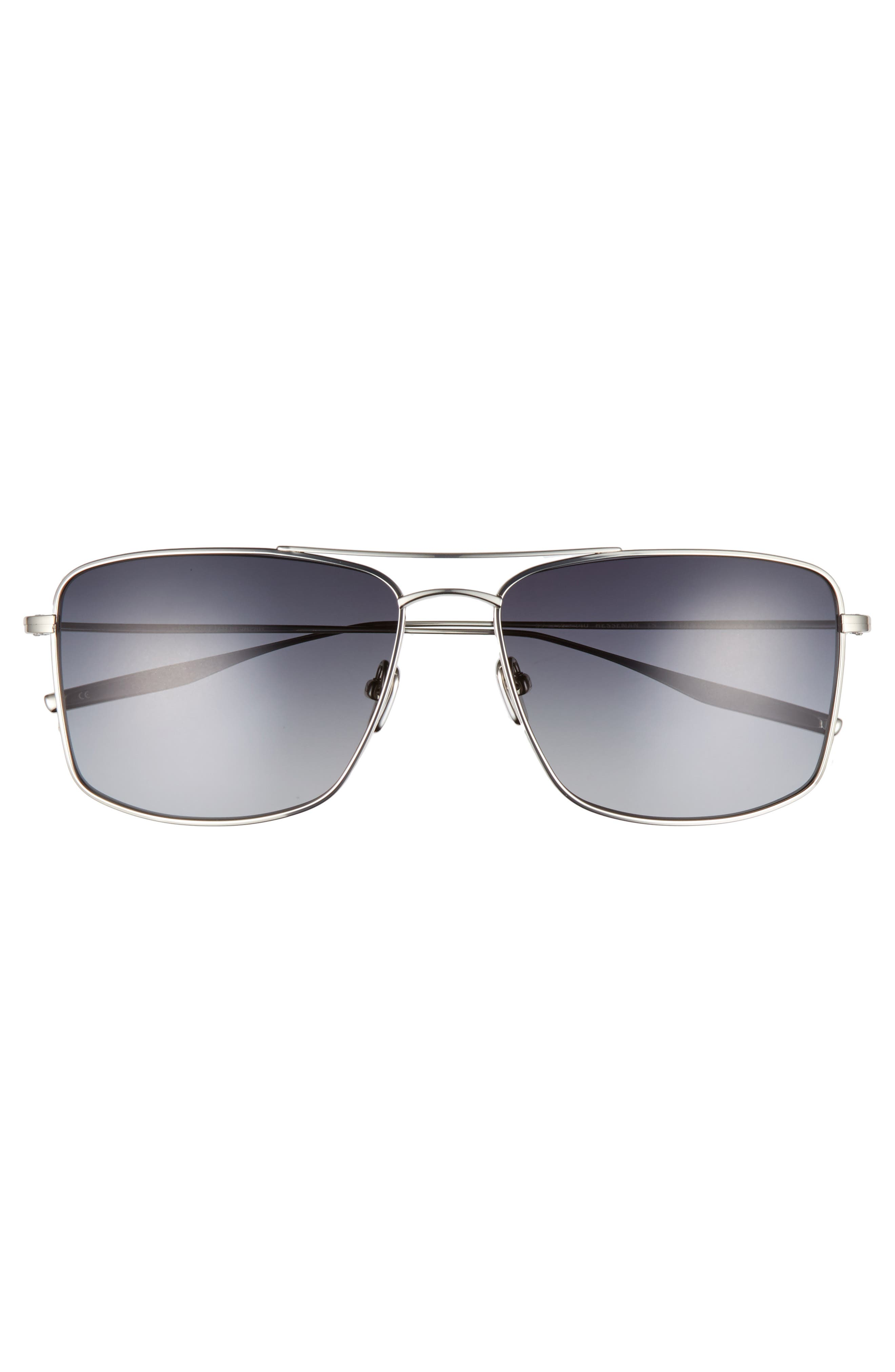 Hesseman 59mm Polarized Sunglasses,                             Alternate thumbnail 2, color,                             TRADITIONAL SILVER