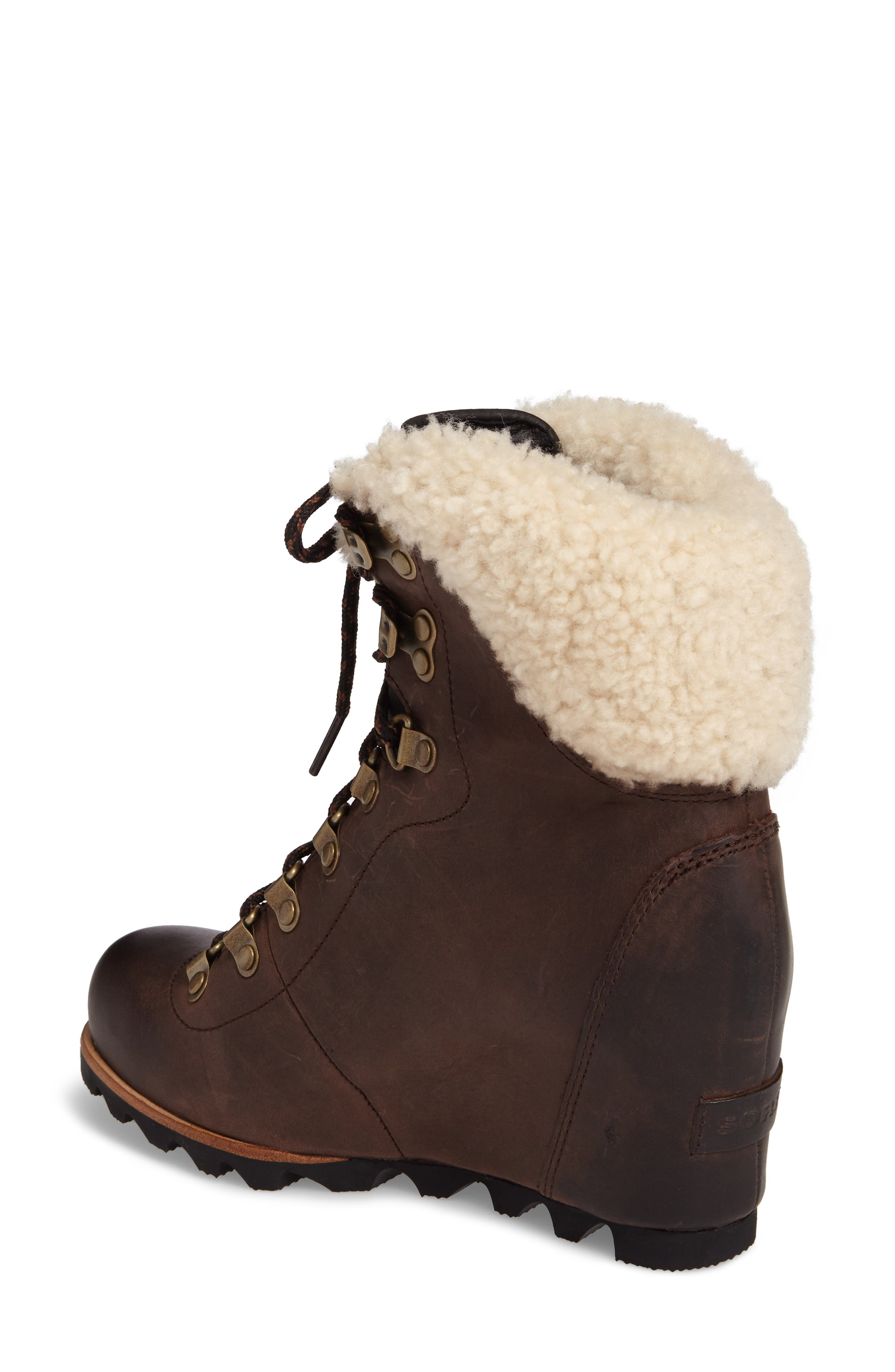 Conquest Genuine Shearling Cuff Waterproof Boot,                             Alternate thumbnail 2, color,                             200