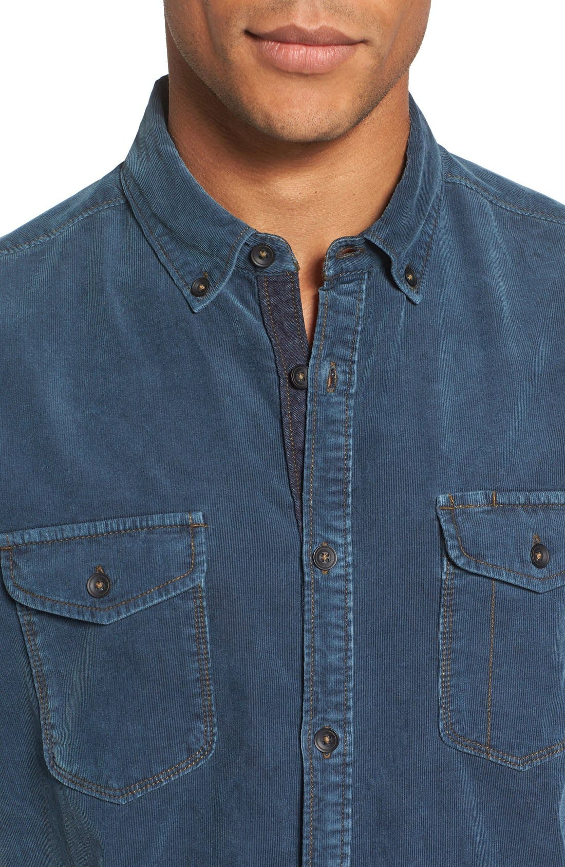 'Jaymes' Pigment Dyed Corduroy Shirt,                             Alternate thumbnail 16, color,