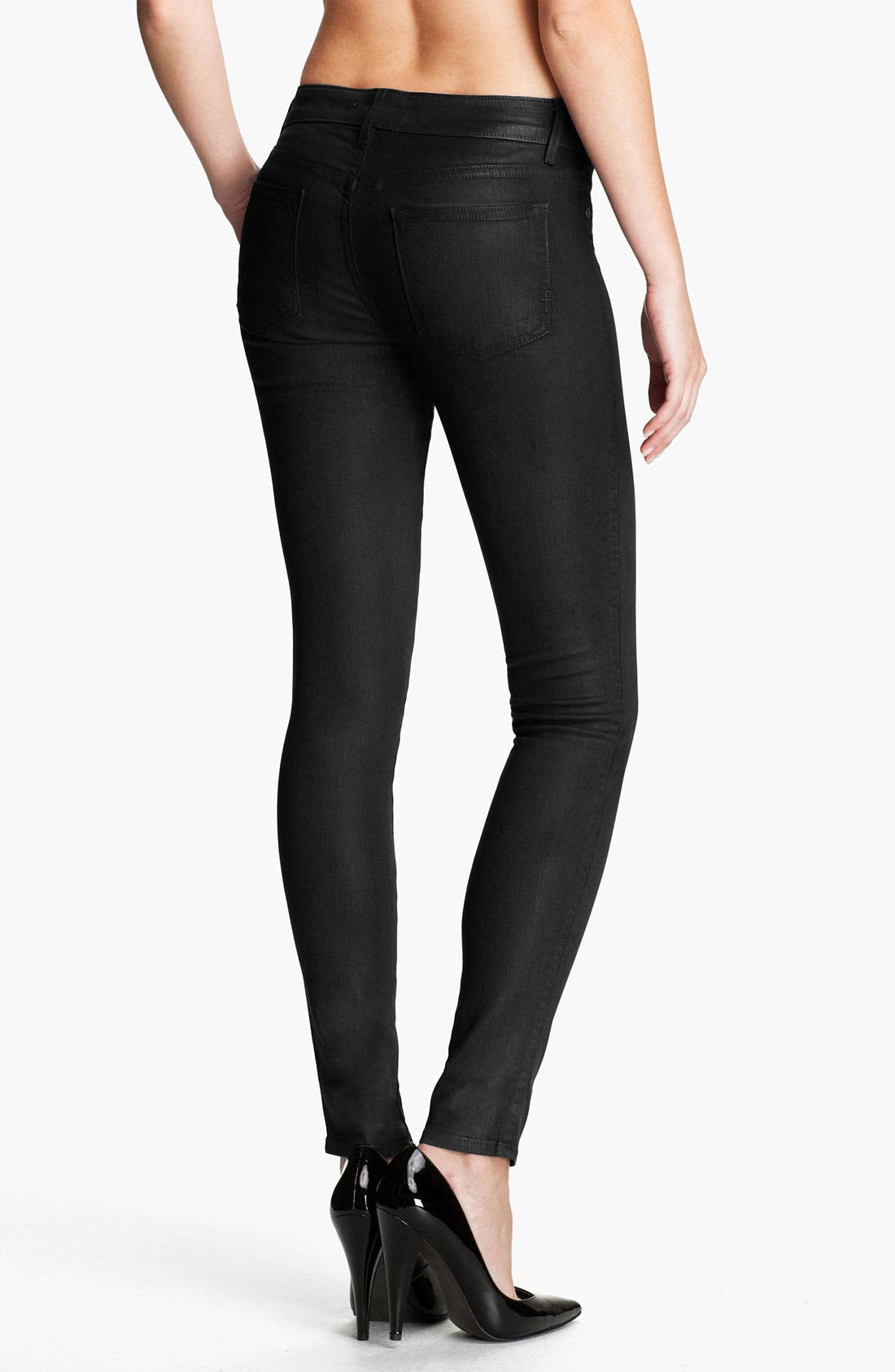 'Legacy Leather' Faux Leather Skinny Jeans,                             Main thumbnail 1, color,                             001