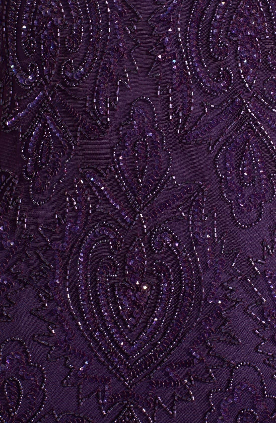 Beaded V-Neck Gown & Jacket,                             Alternate thumbnail 15, color,