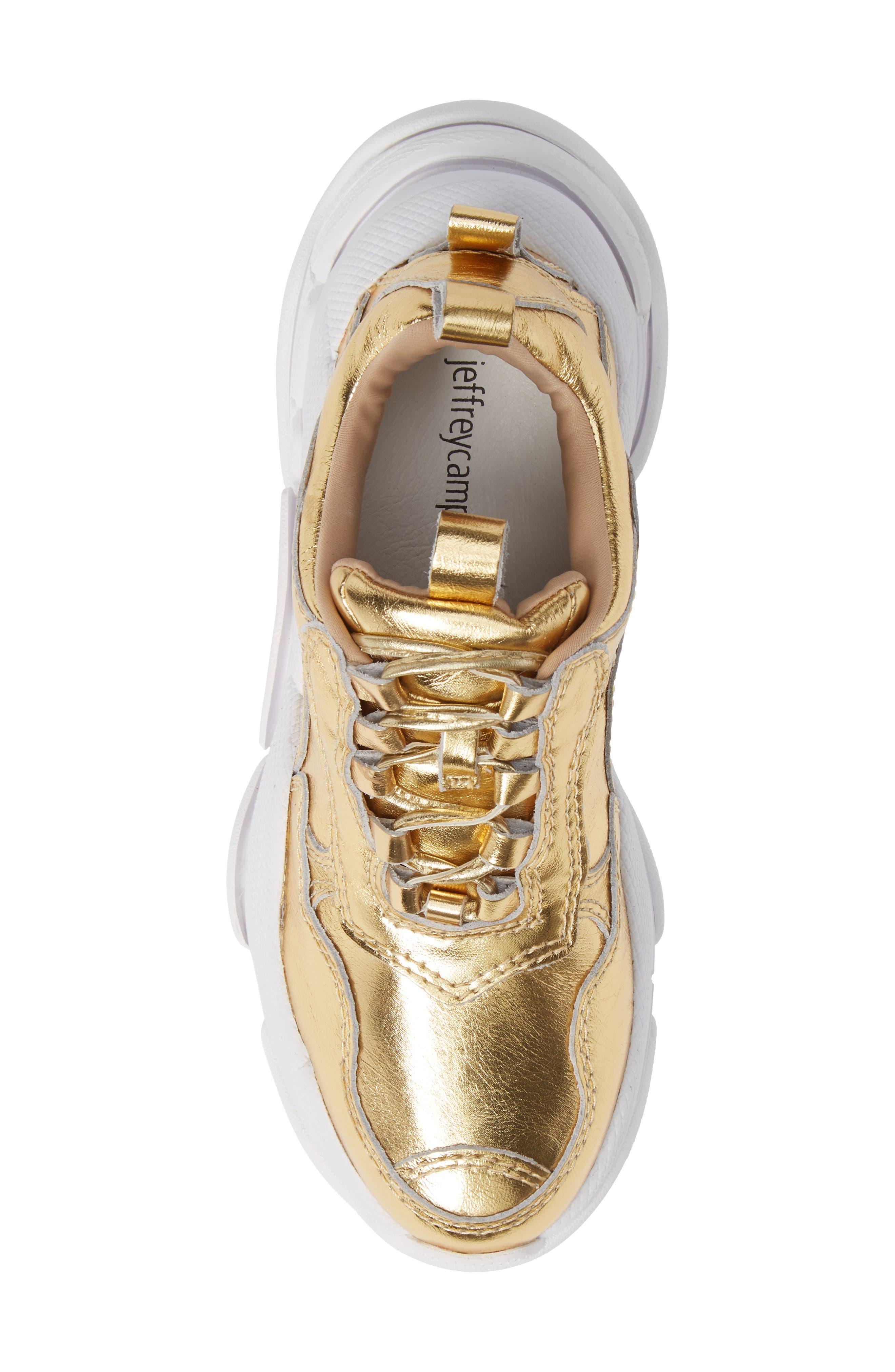 Lo-Fi Sneaker,                             Alternate thumbnail 5, color,                             GOLD CRINKLE