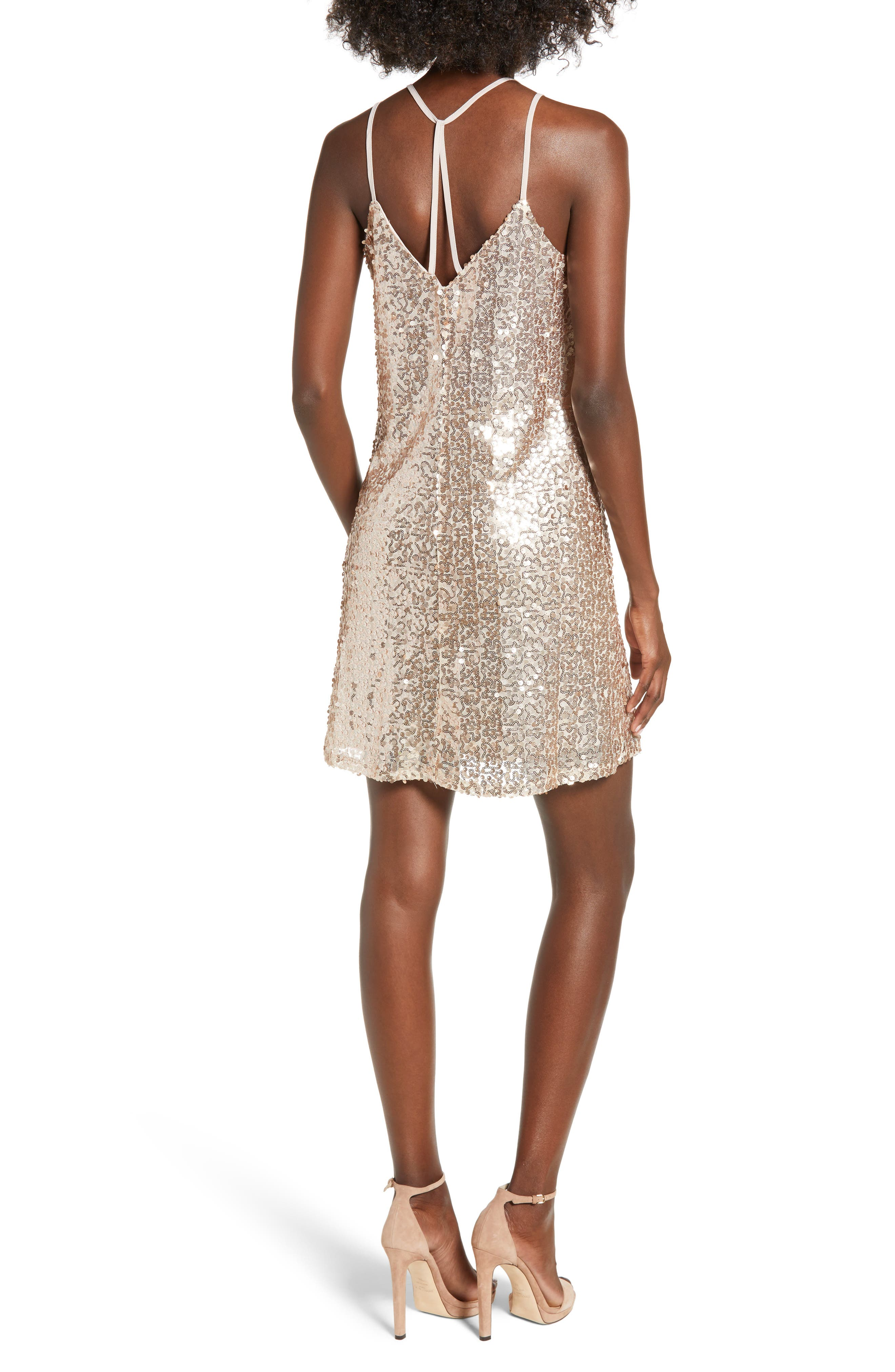 Strappy Sequin Slipdress,                             Alternate thumbnail 2, color,                             710