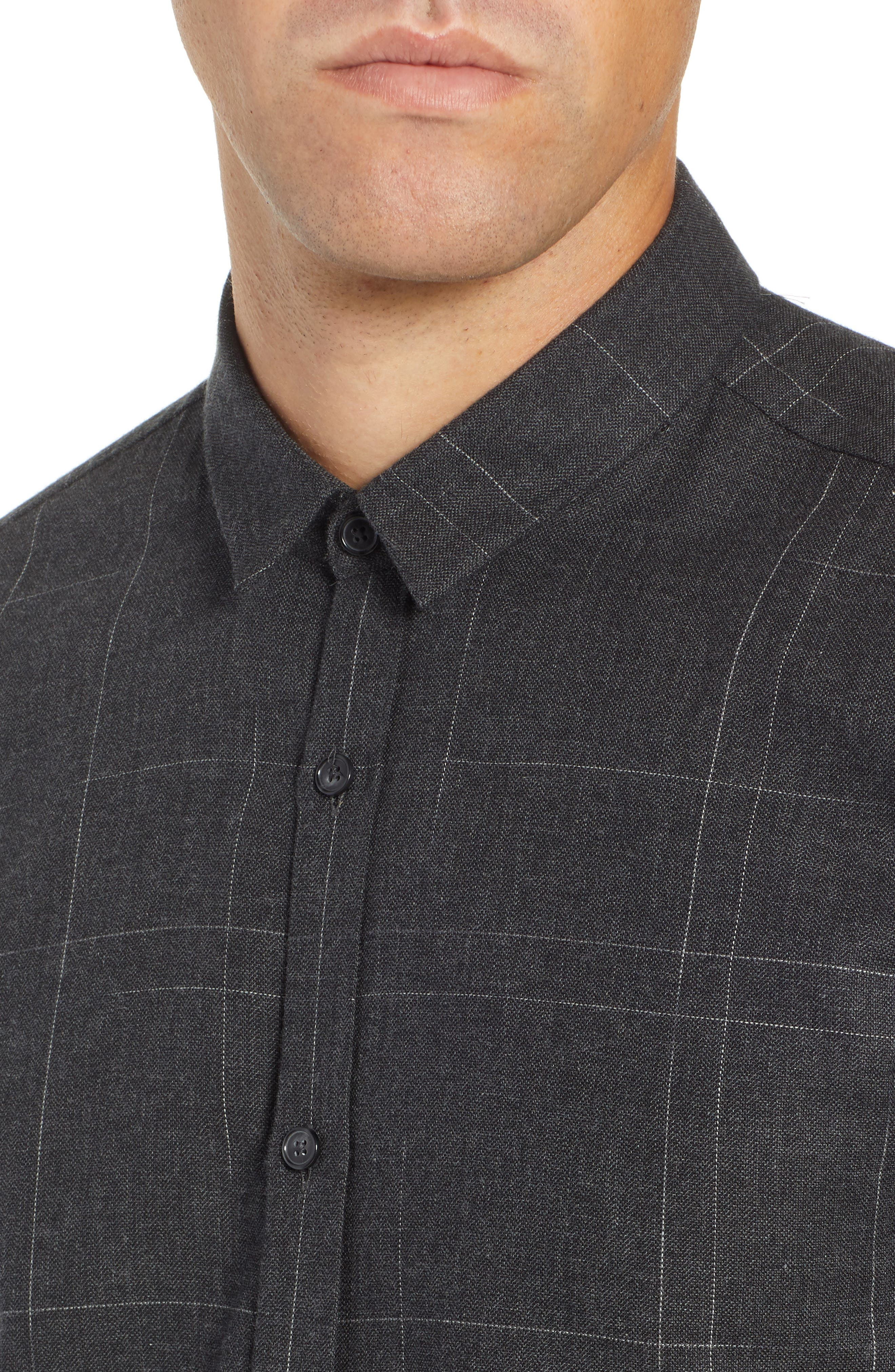 Ero Extra Slim Flannel Shirt,                             Alternate thumbnail 2, color,                             GREY