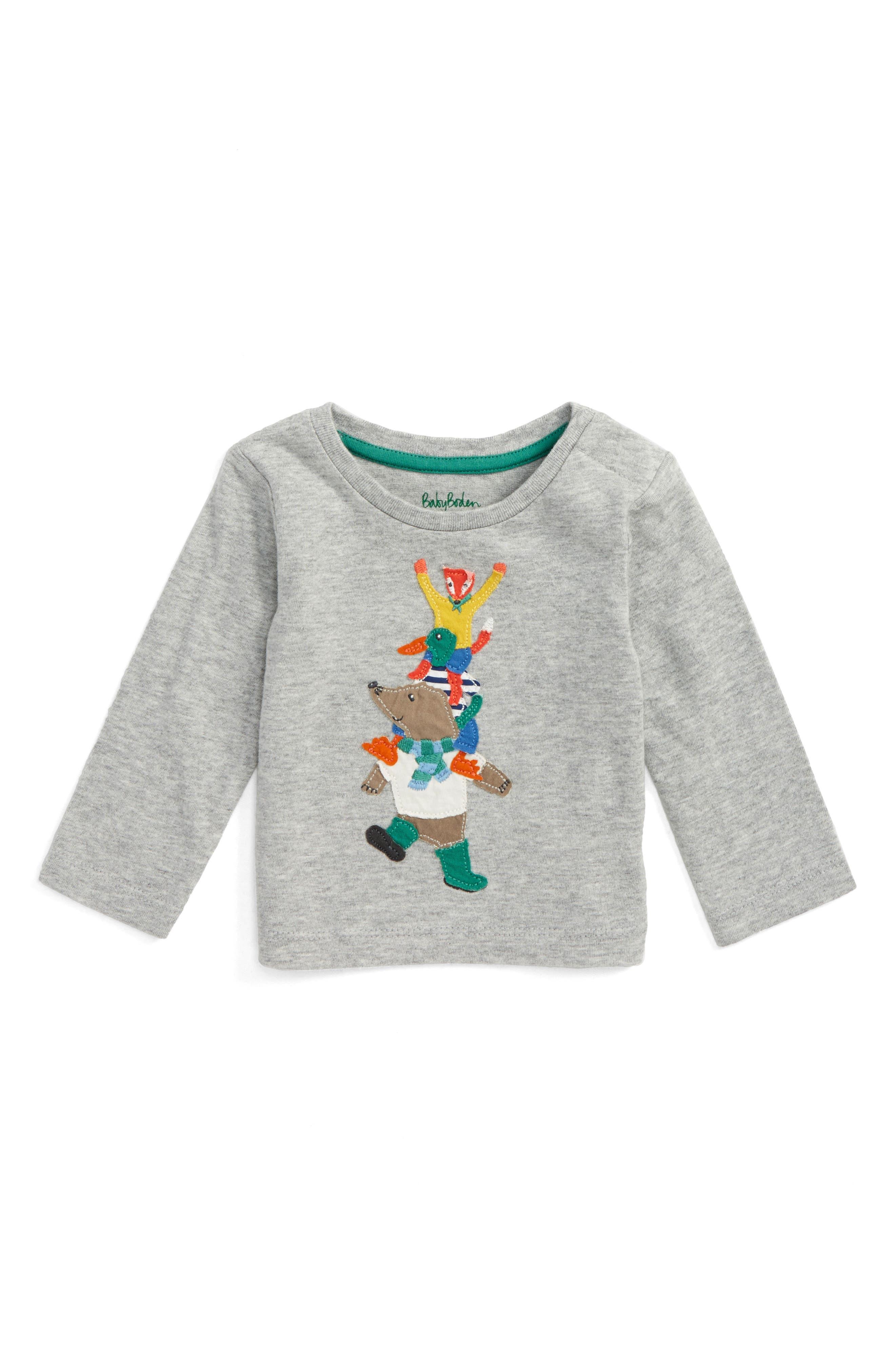 Big Appliqué T-Shirt,                         Main,                         color, 020