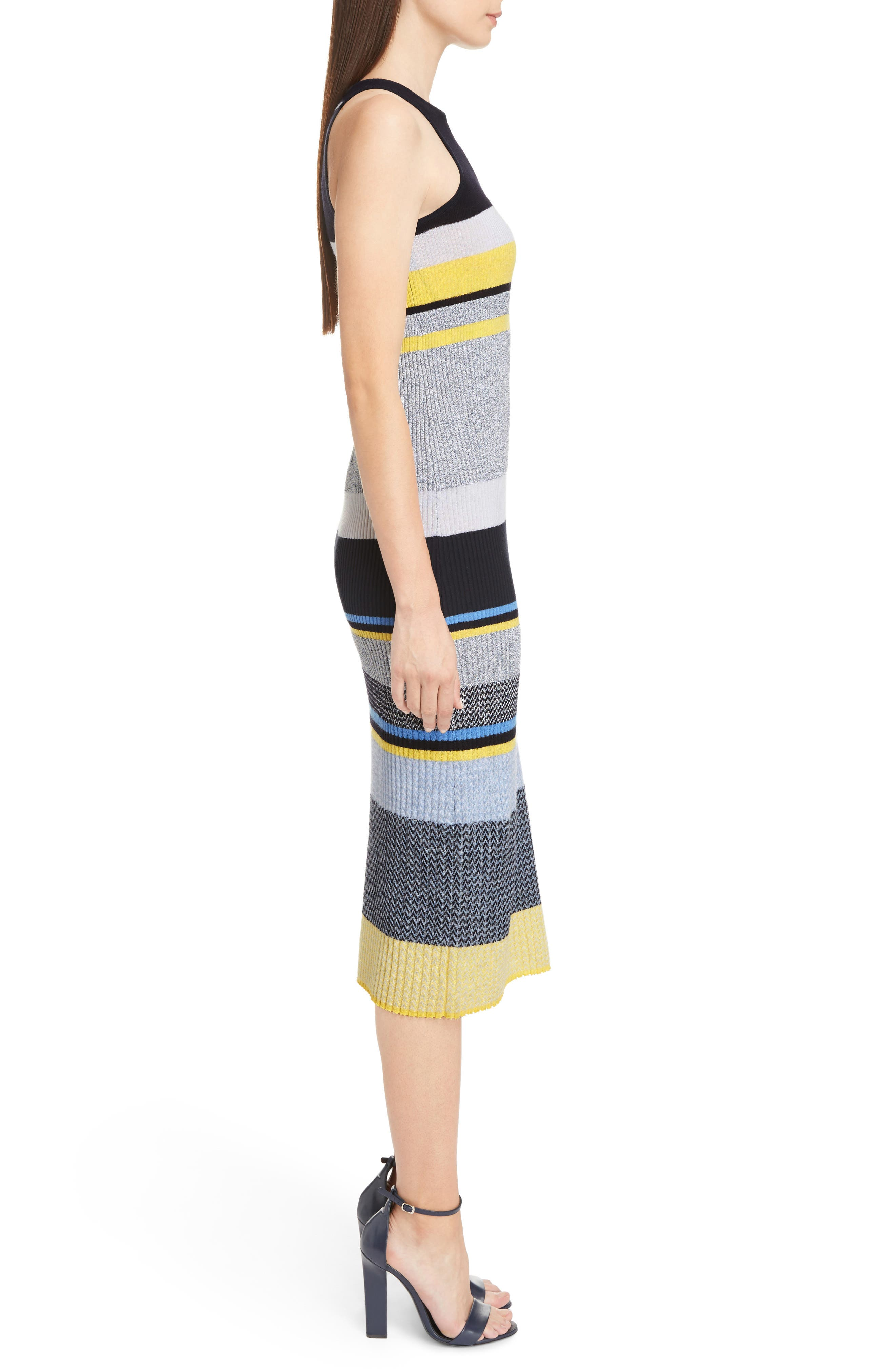 Stripe Knit Dress,                             Alternate thumbnail 3, color,