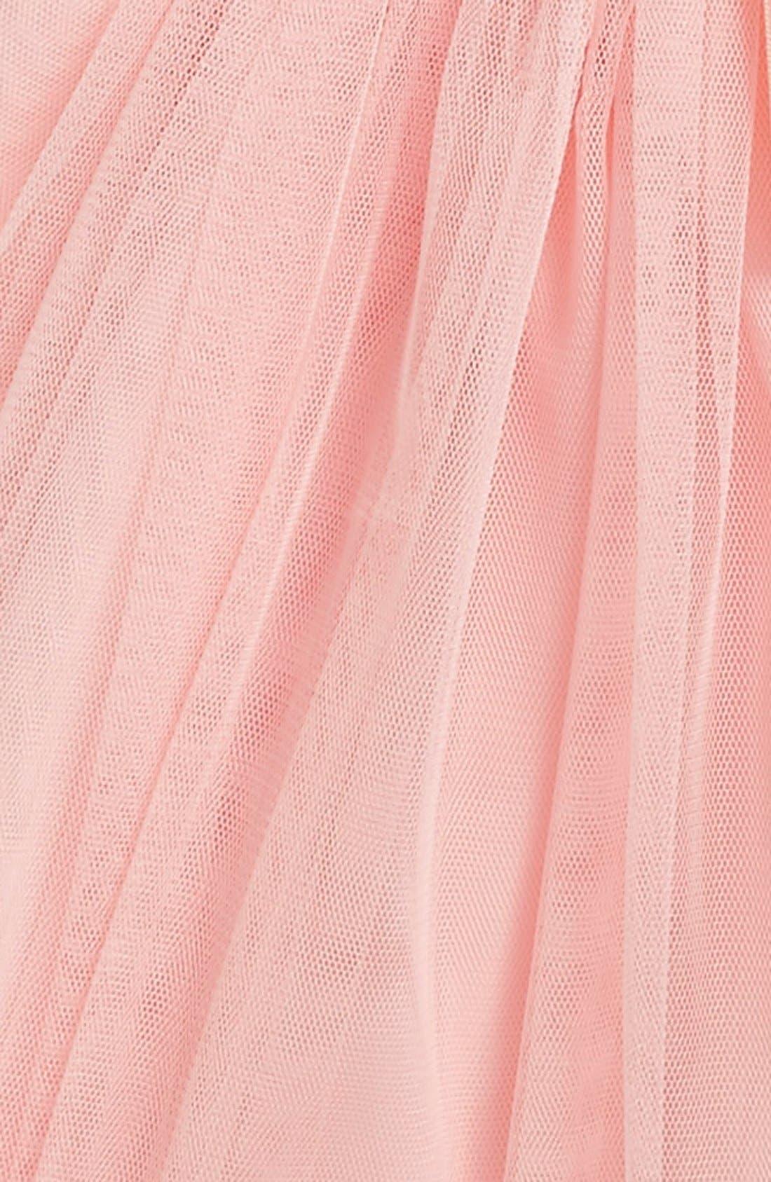 Empire Waist Rosette Dress,                             Alternate thumbnail 2, color,                             PEACH