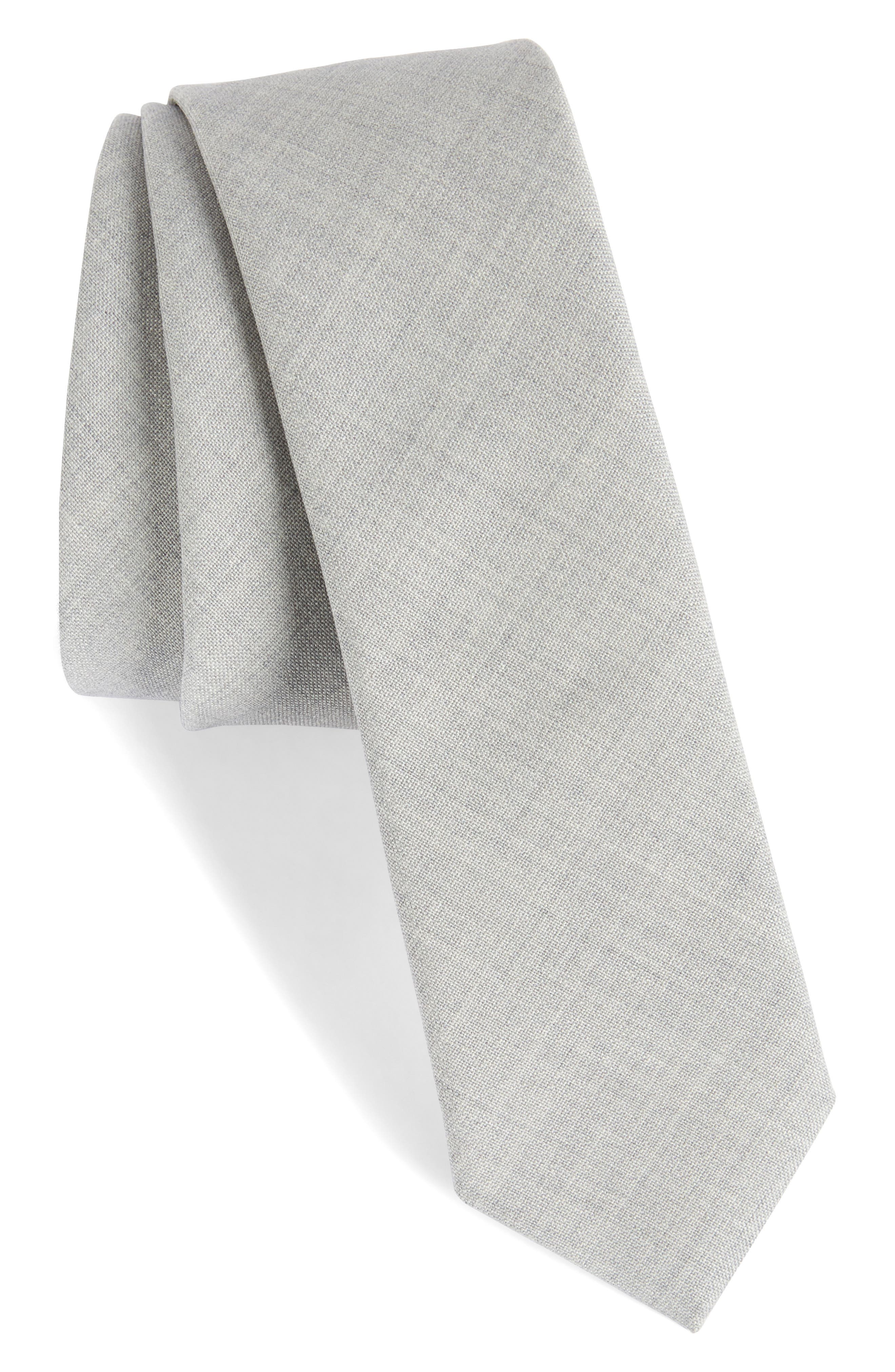 Marled Wool Skinny Tie,                             Main thumbnail 2, color,