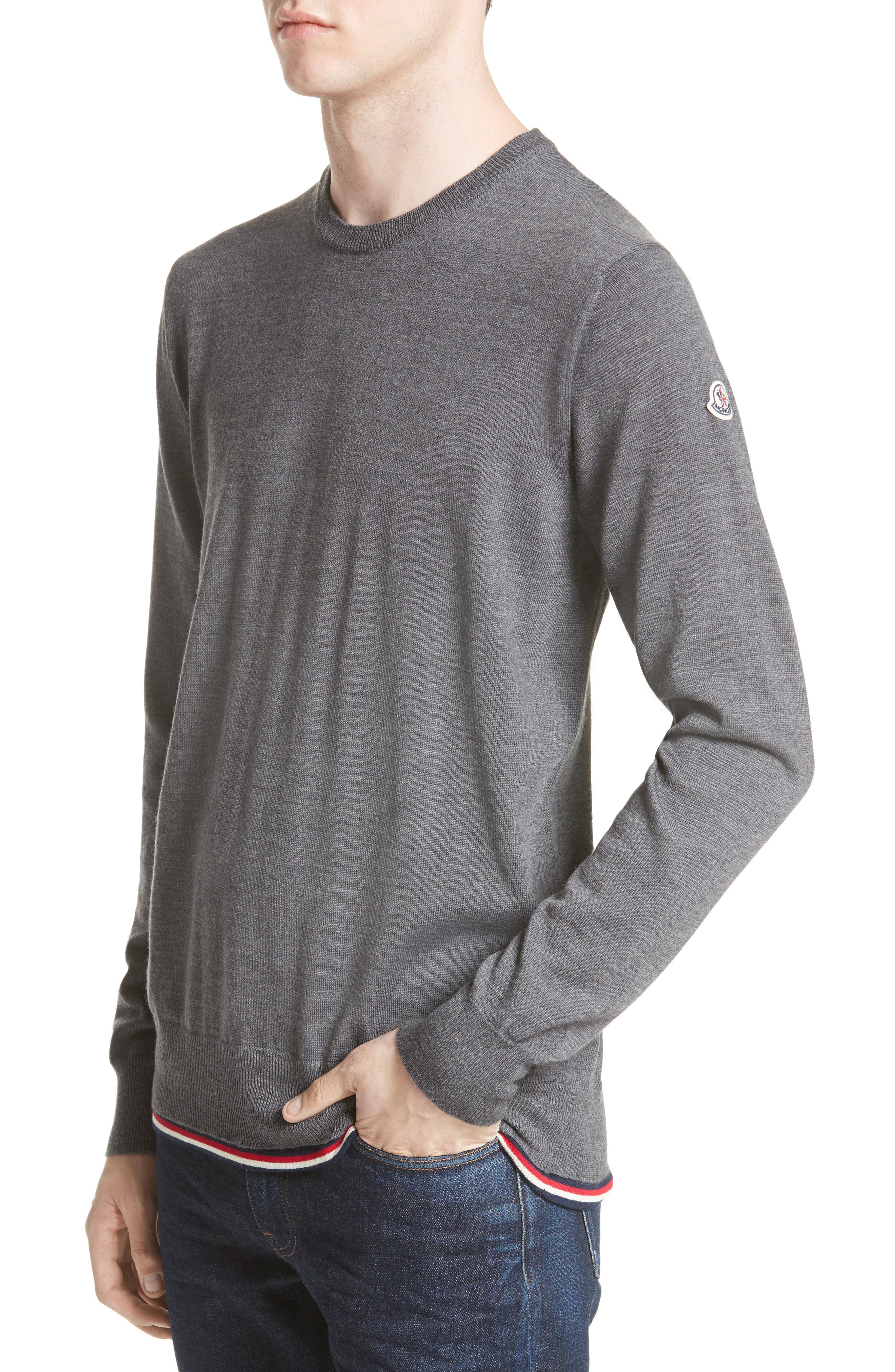 Maglione Tipped Wool Sweater,                         Main,                         color, GREY