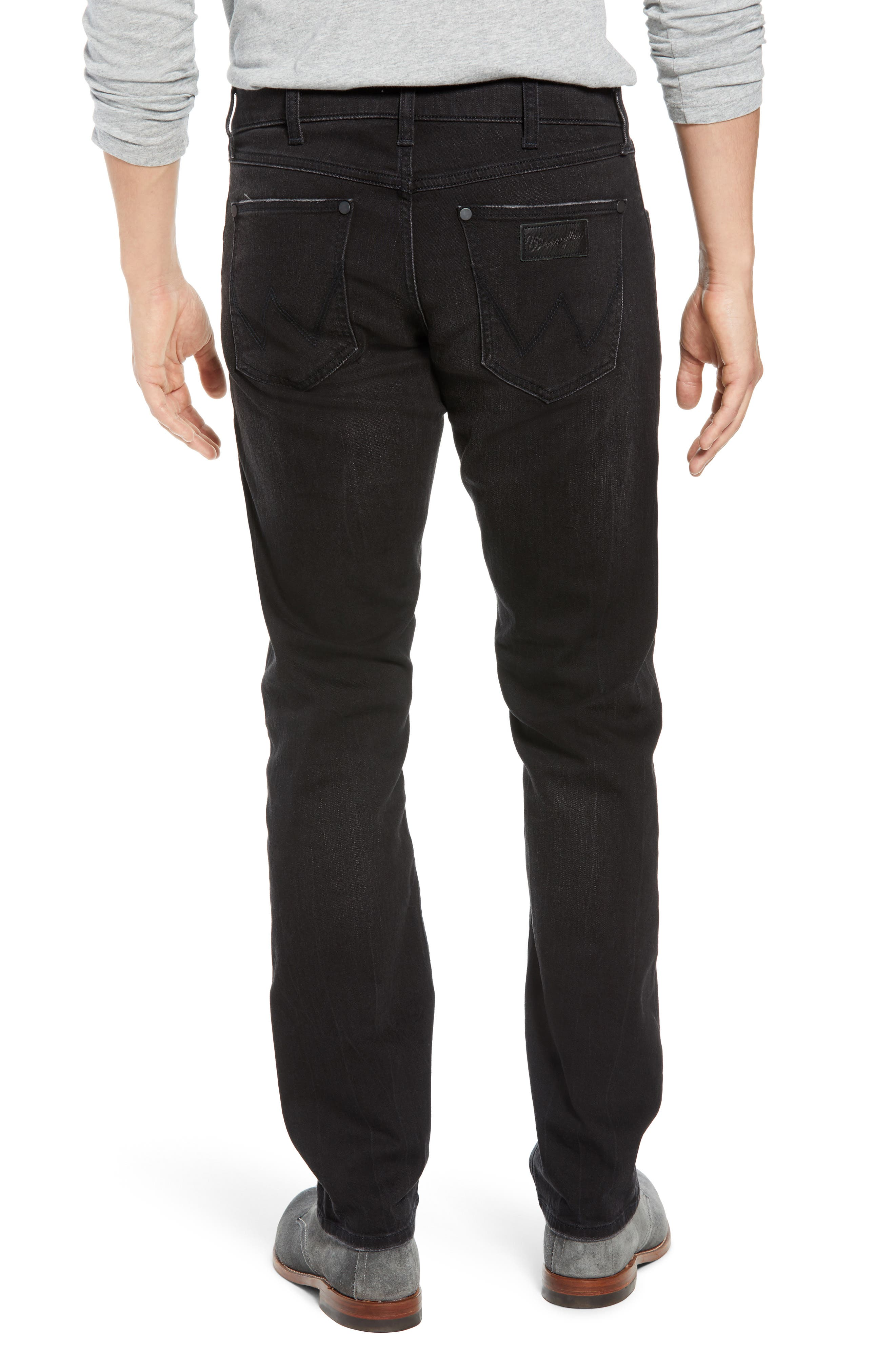 Greensboro Straight Leg Jeans,                             Alternate thumbnail 2, color,                             BLACK