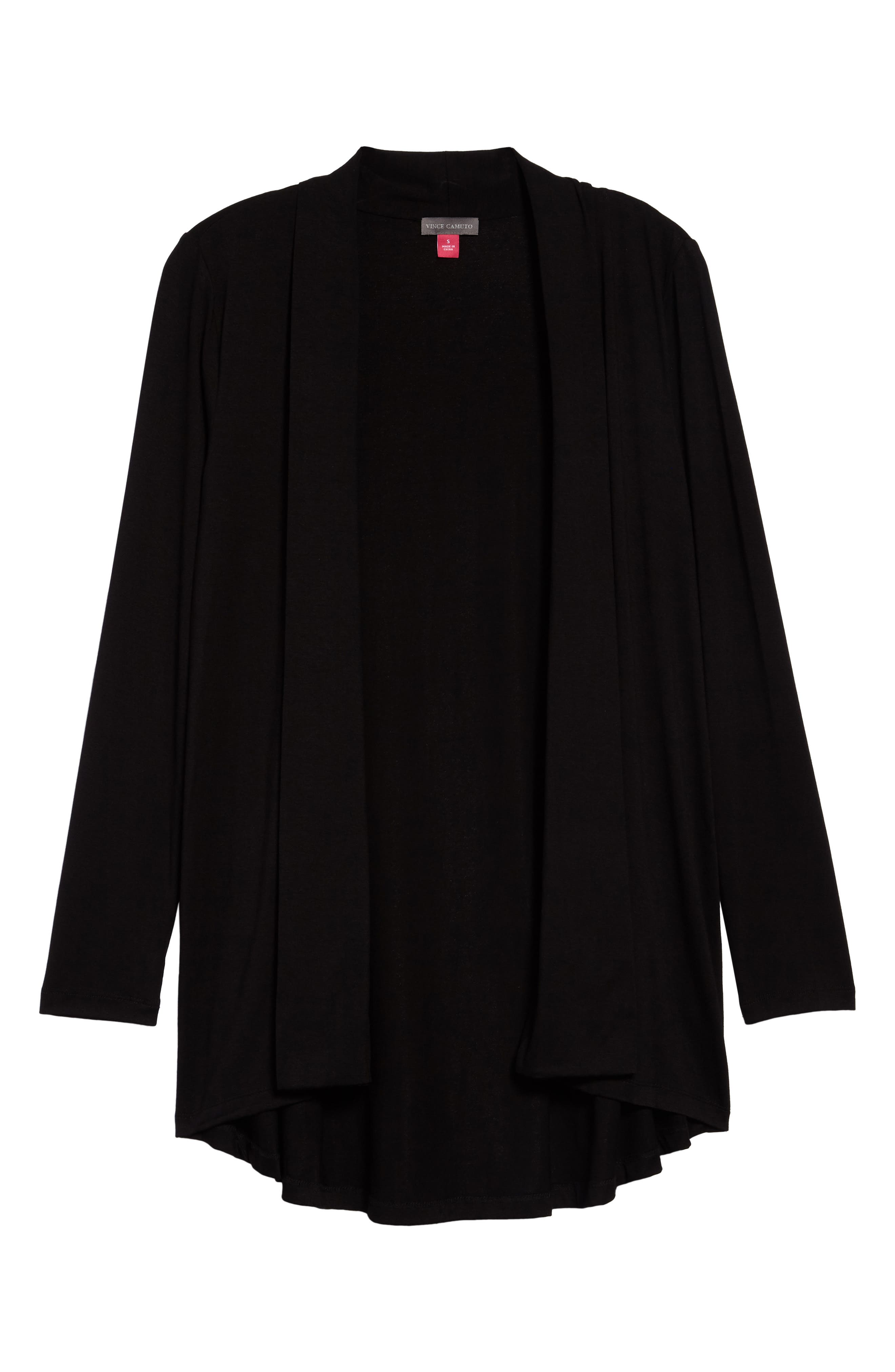 Vince Camuto Open Front Cardigan, Black