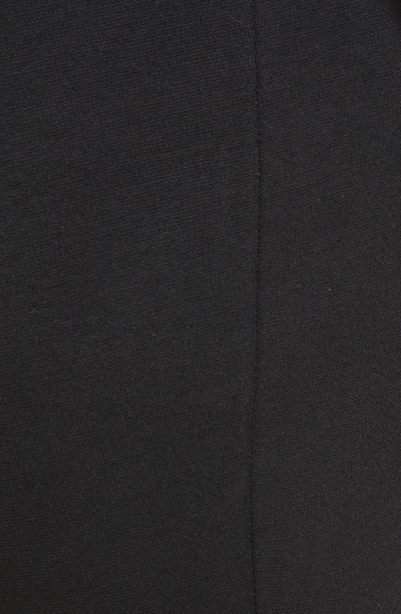 Jersey Flare Pants,                             Alternate thumbnail 6, color,                             BLACK