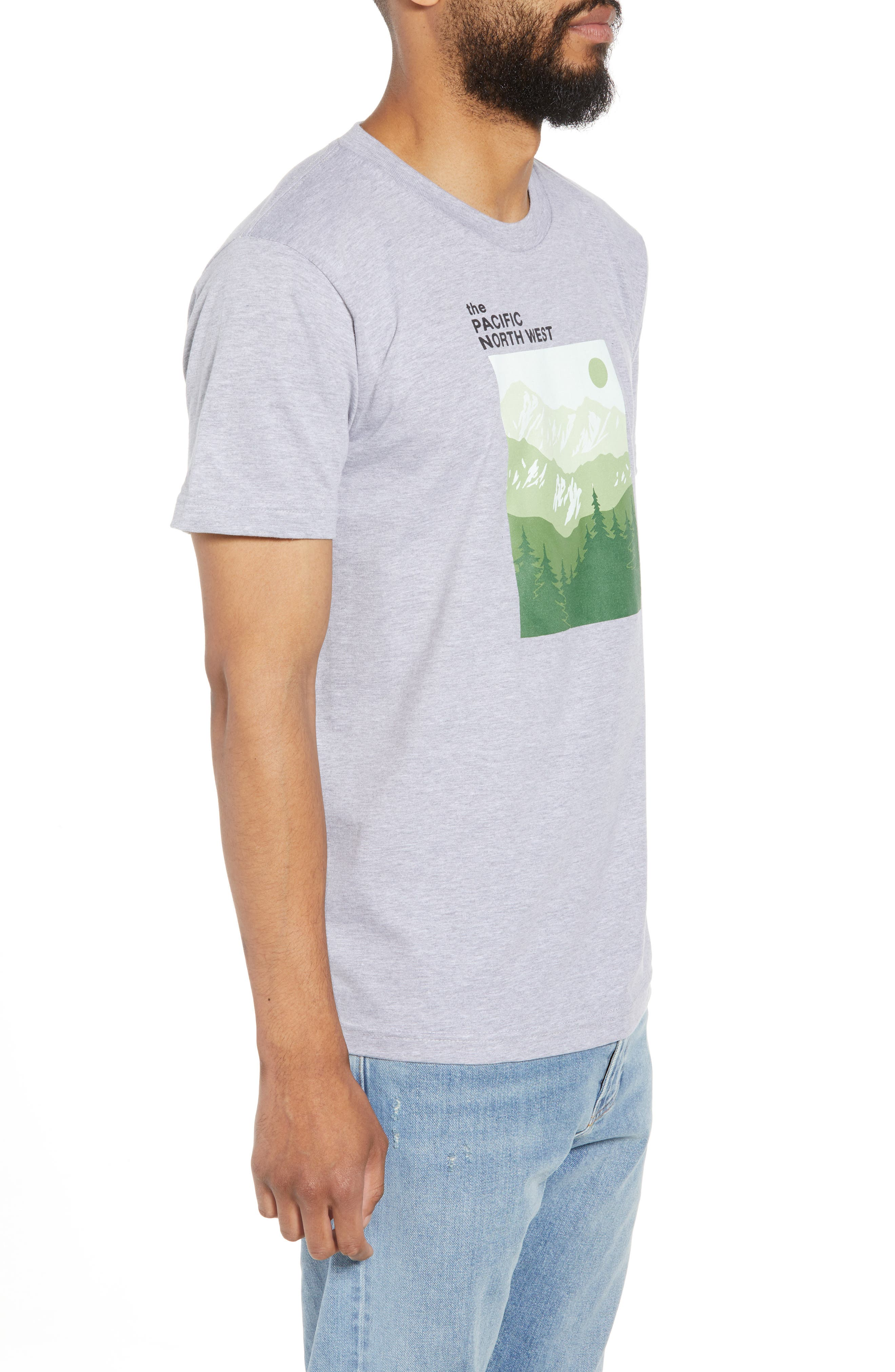 PNW Mountains Graphic T-Shirt,                             Alternate thumbnail 3, color,                             020
