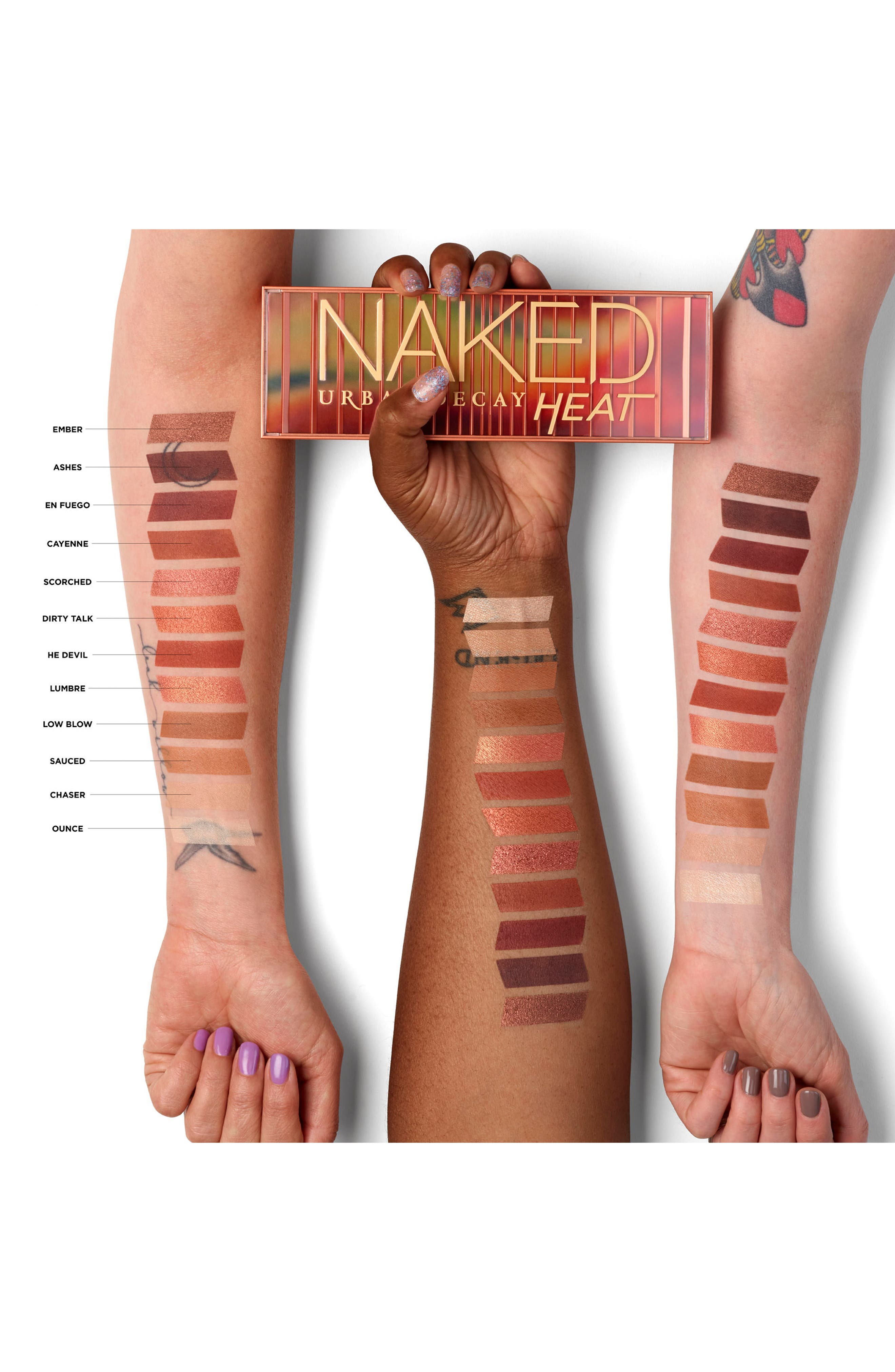 Naked Heat Palette,                             Alternate thumbnail 8, color,                             ORANGE