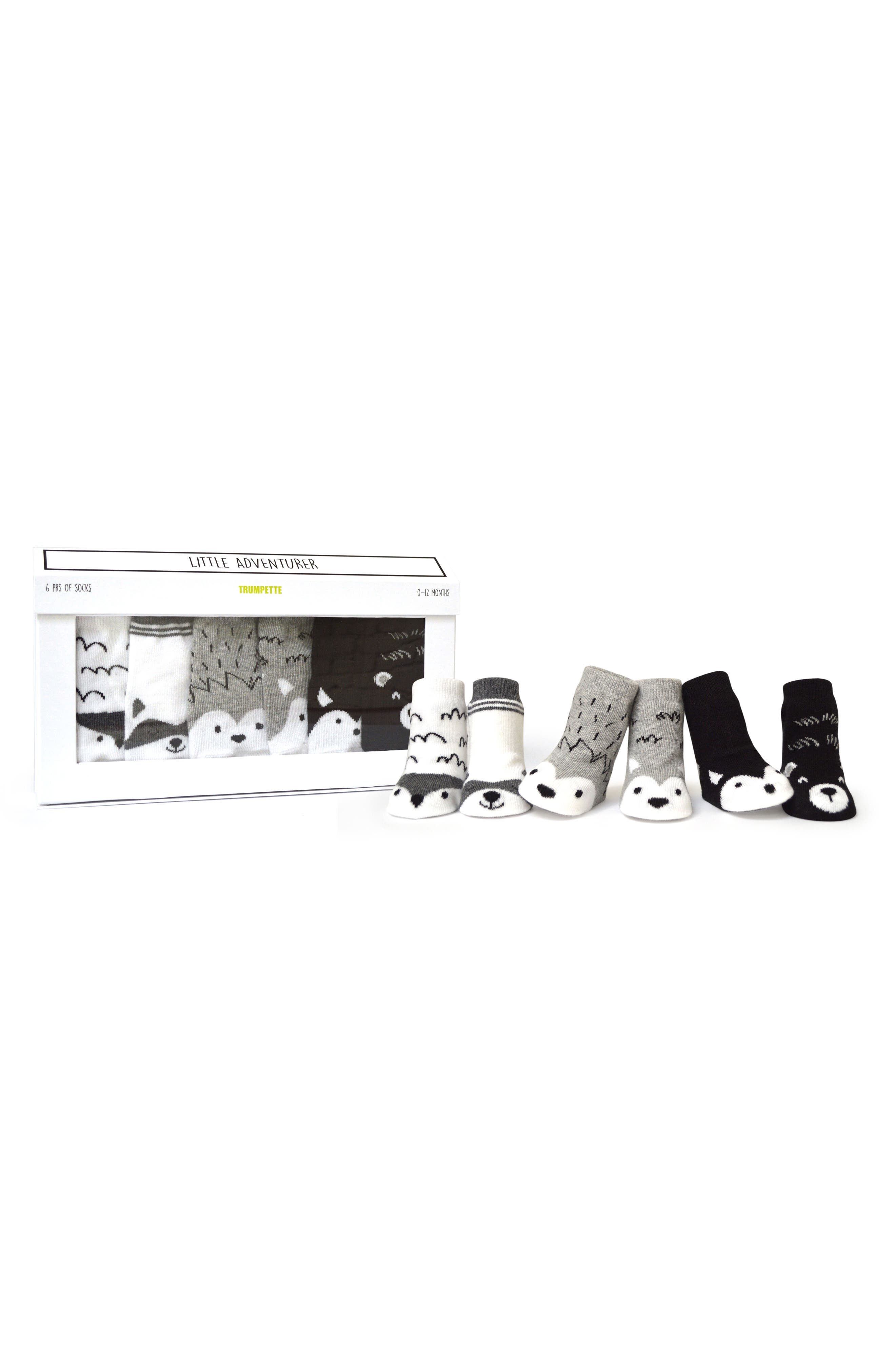 Little Adventurer 6-Pack Socks,                         Main,                         color, 020