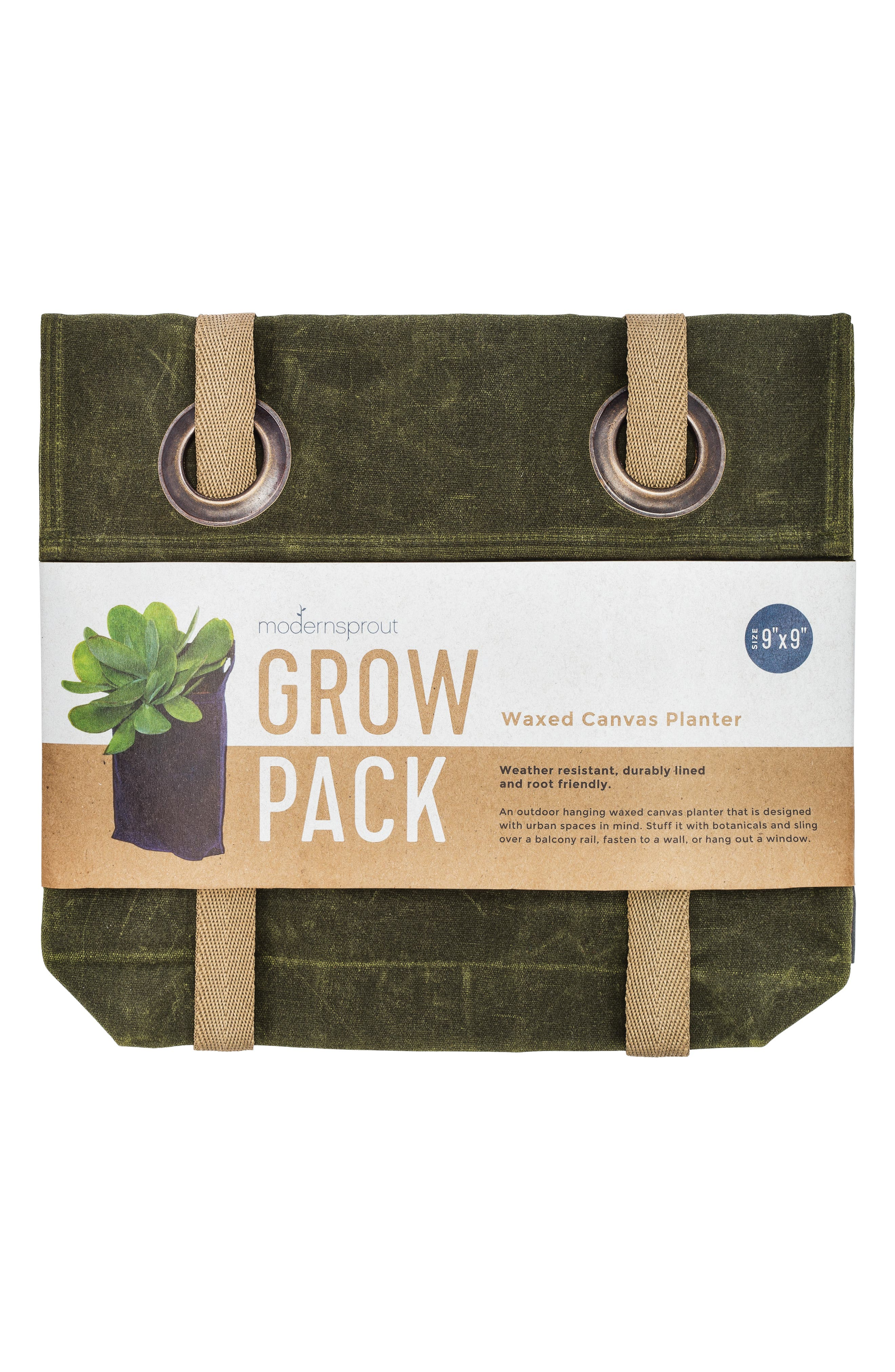 Small Waxed Canvas GrowPack Planter,                             Alternate thumbnail 2, color,                             300