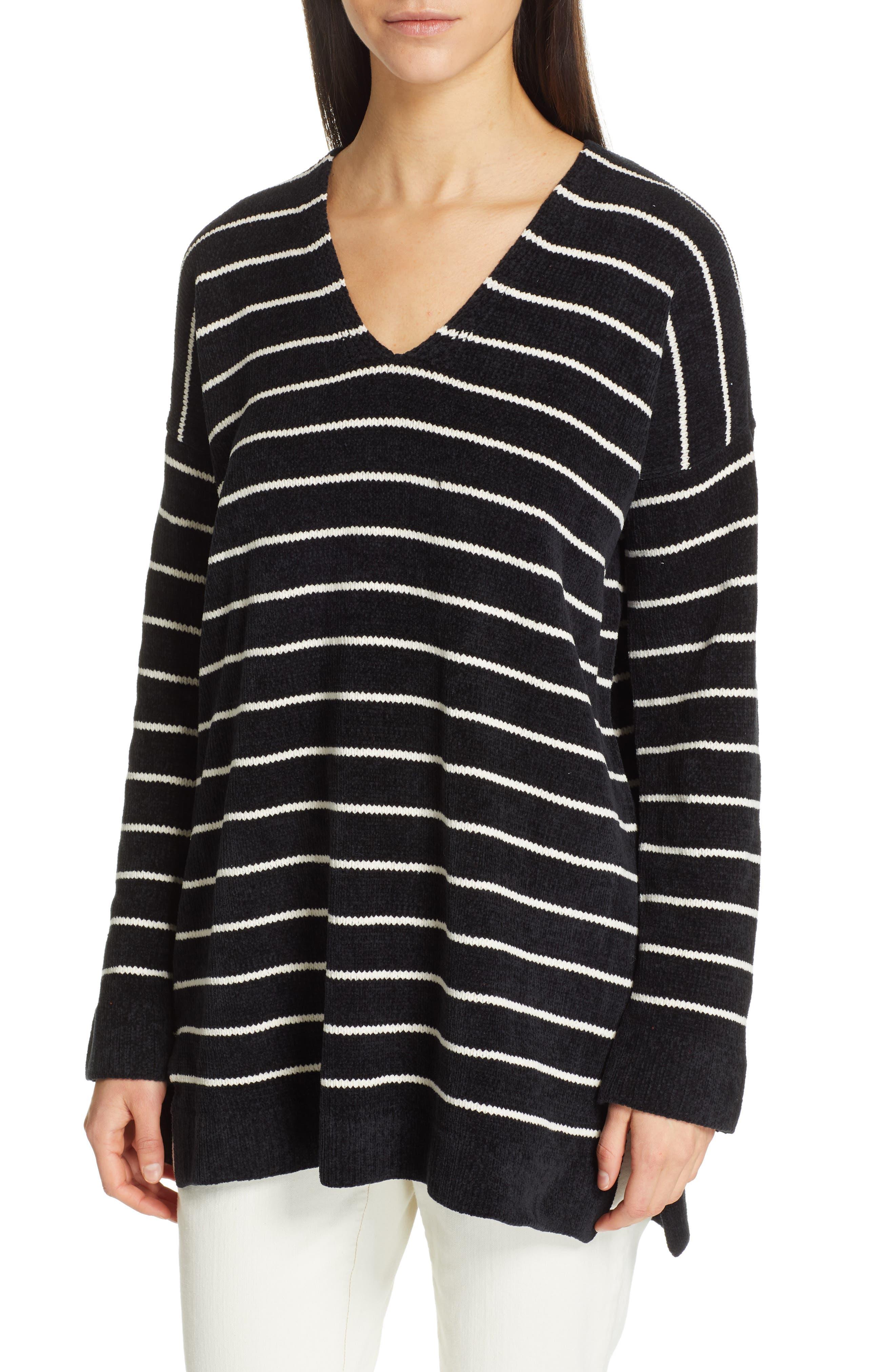 women's eileen fisher v-neck tunic sweater