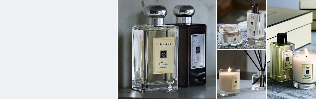Jo Malone London cologne, home fragrance, and bath and body.