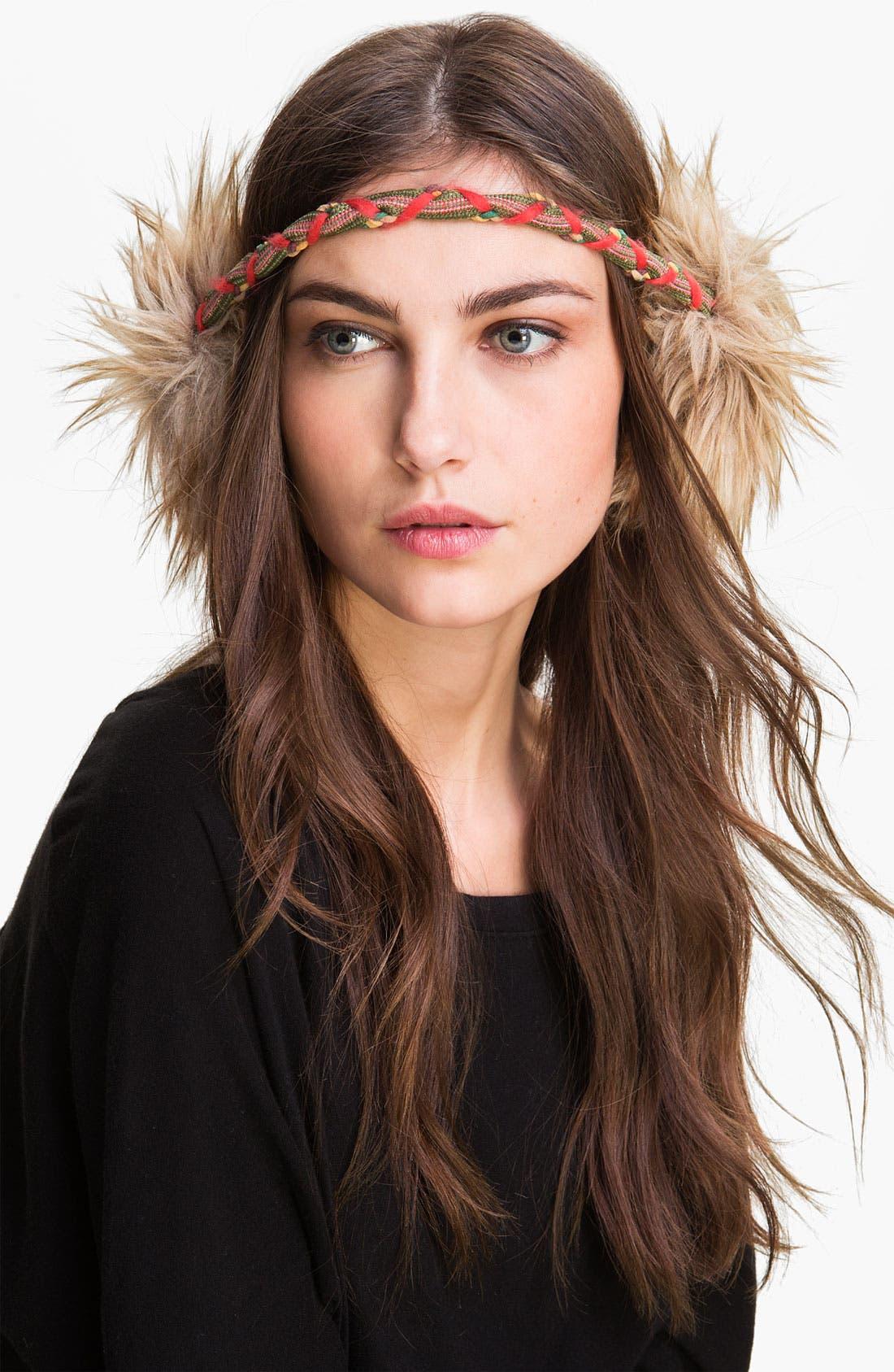 GRACE HATS Faux Fur Earmuffs, Main, color, 250