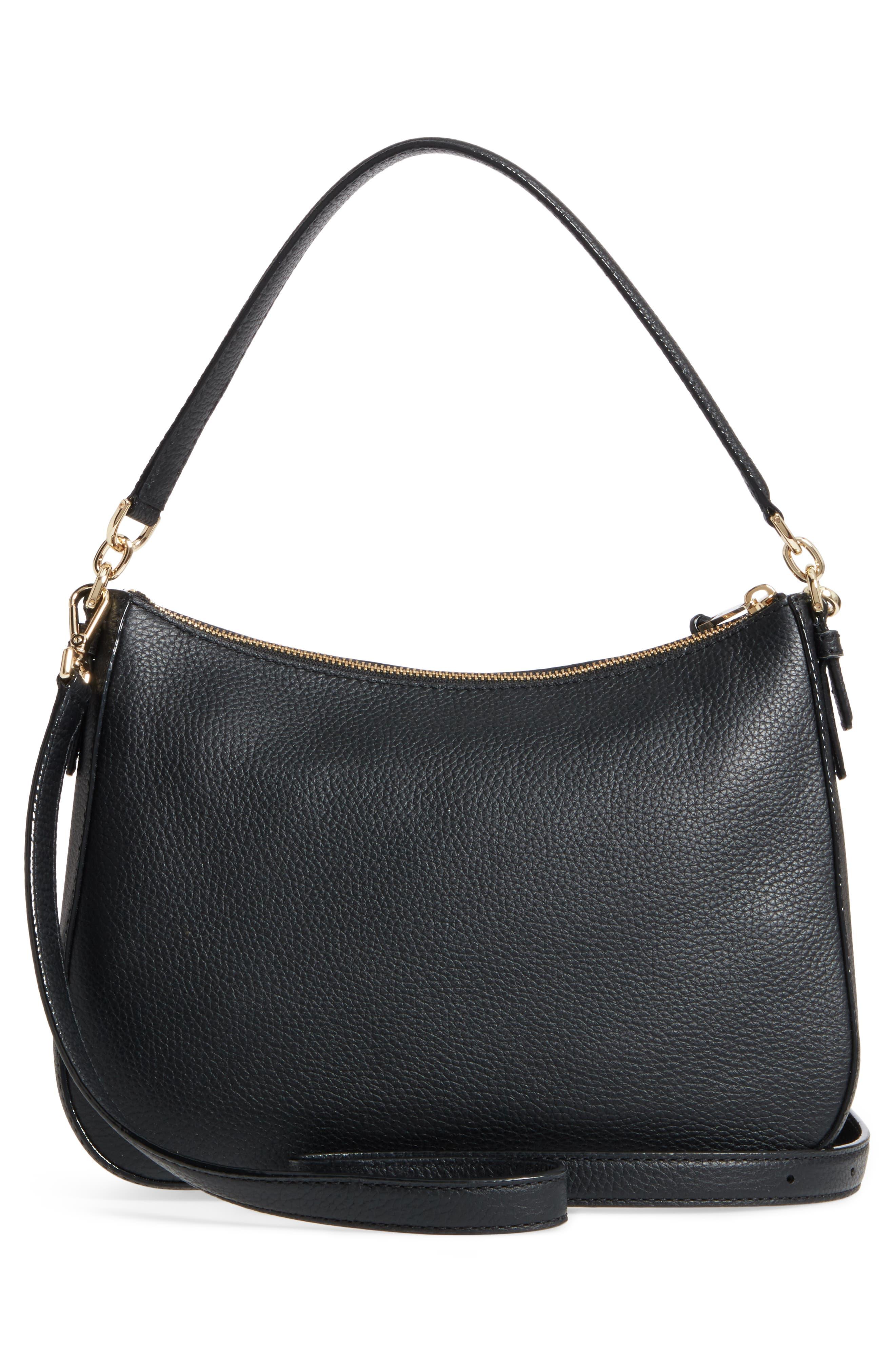 jackson street - colette leather satchel,                             Alternate thumbnail 3, color,                             BLACK