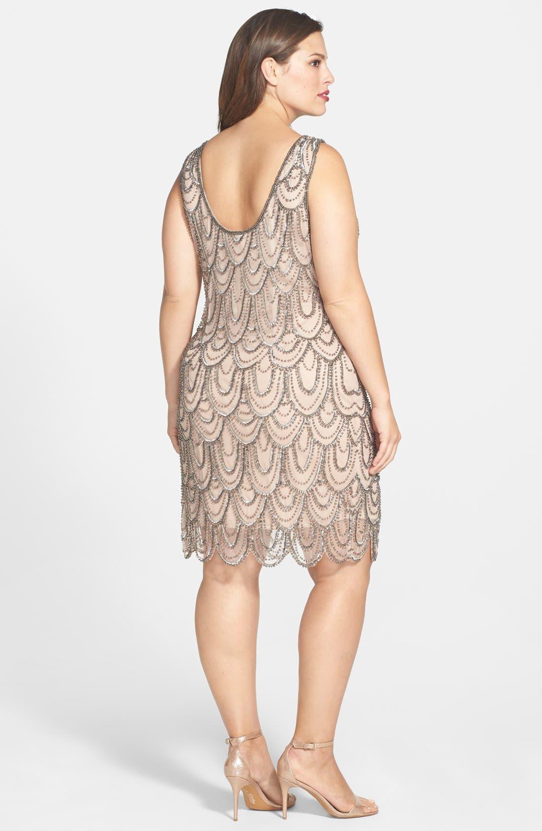 Beaded Sheath Dress,                             Alternate thumbnail 22, color,