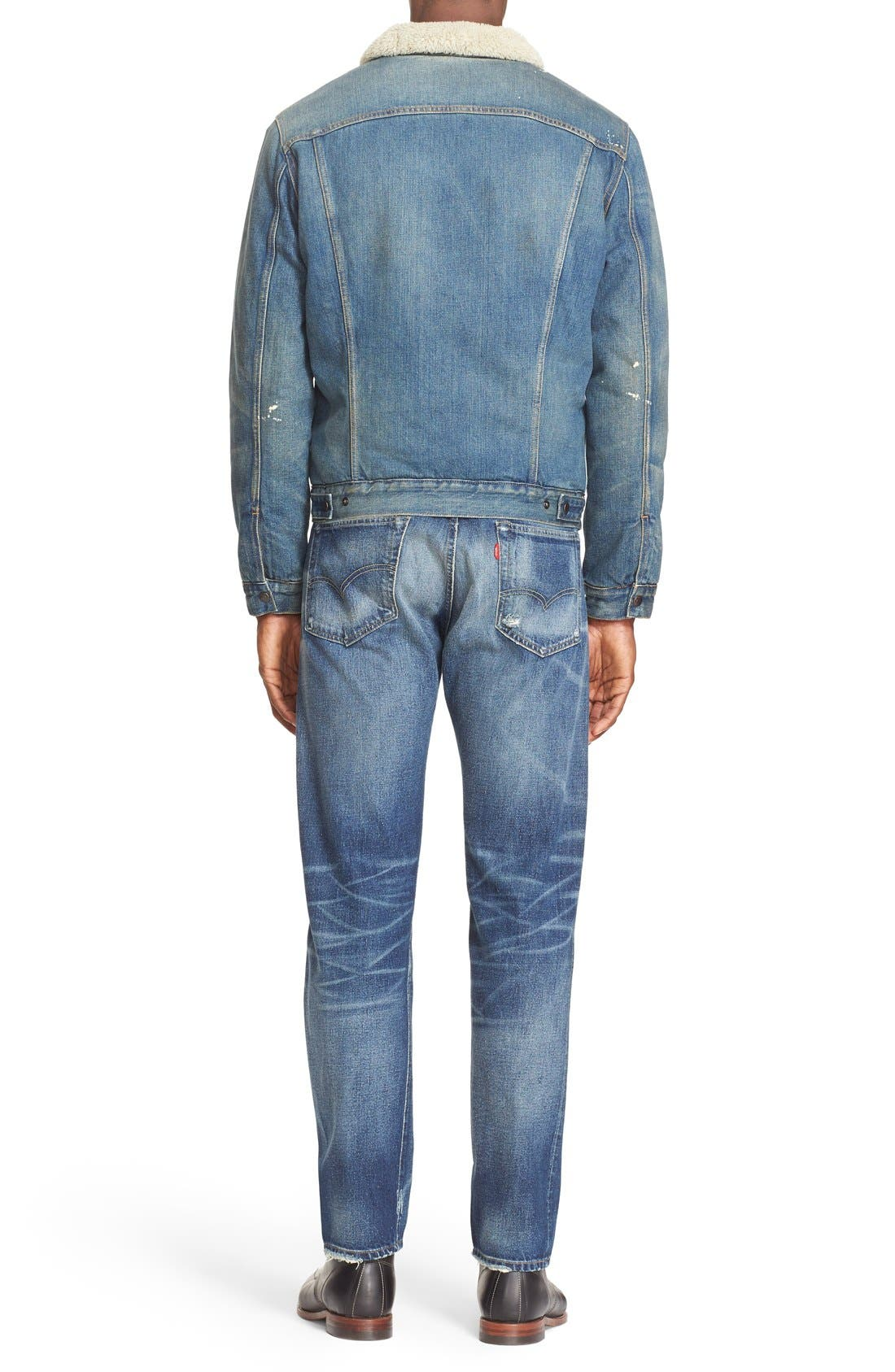 '1967 Type III' Denim Jacket with Faux Fur Collar,                             Alternate thumbnail 2, color,                             400