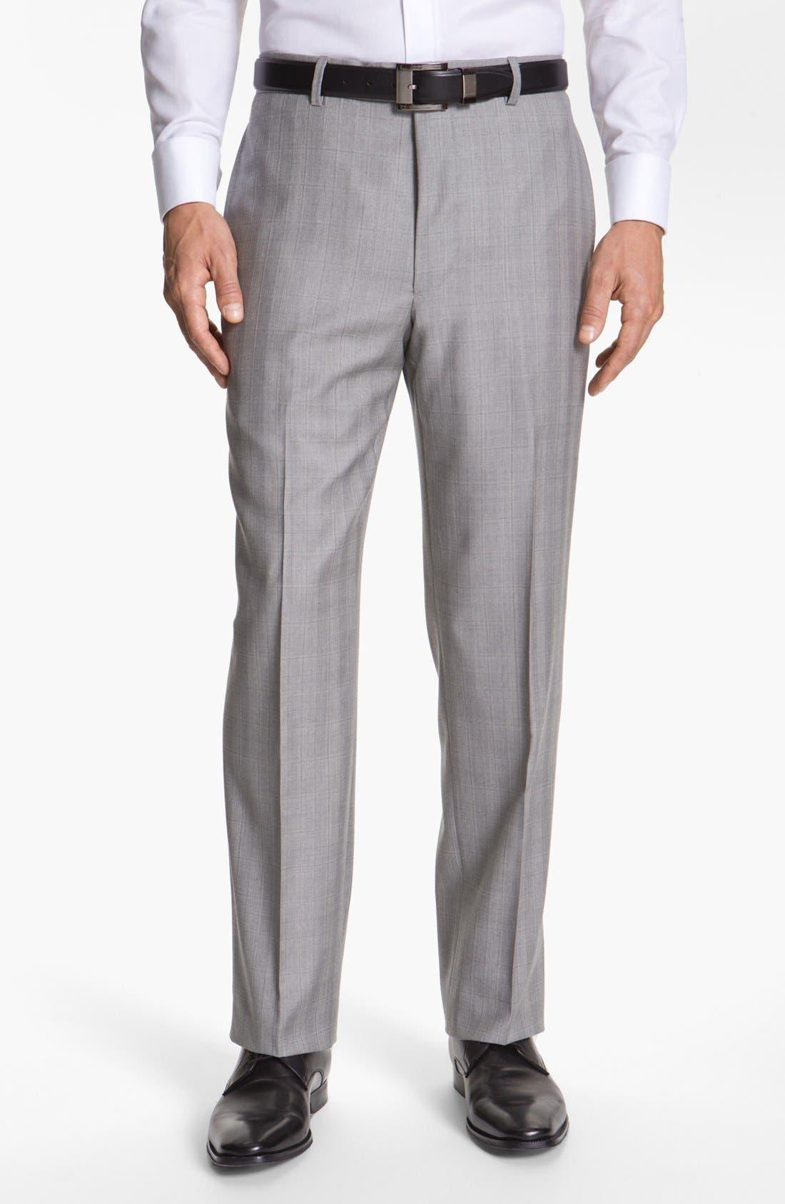 JOSEPH ABBOUD,                             'Platinum' Double Breasted Suit,                             Alternate thumbnail 5, color,                             050