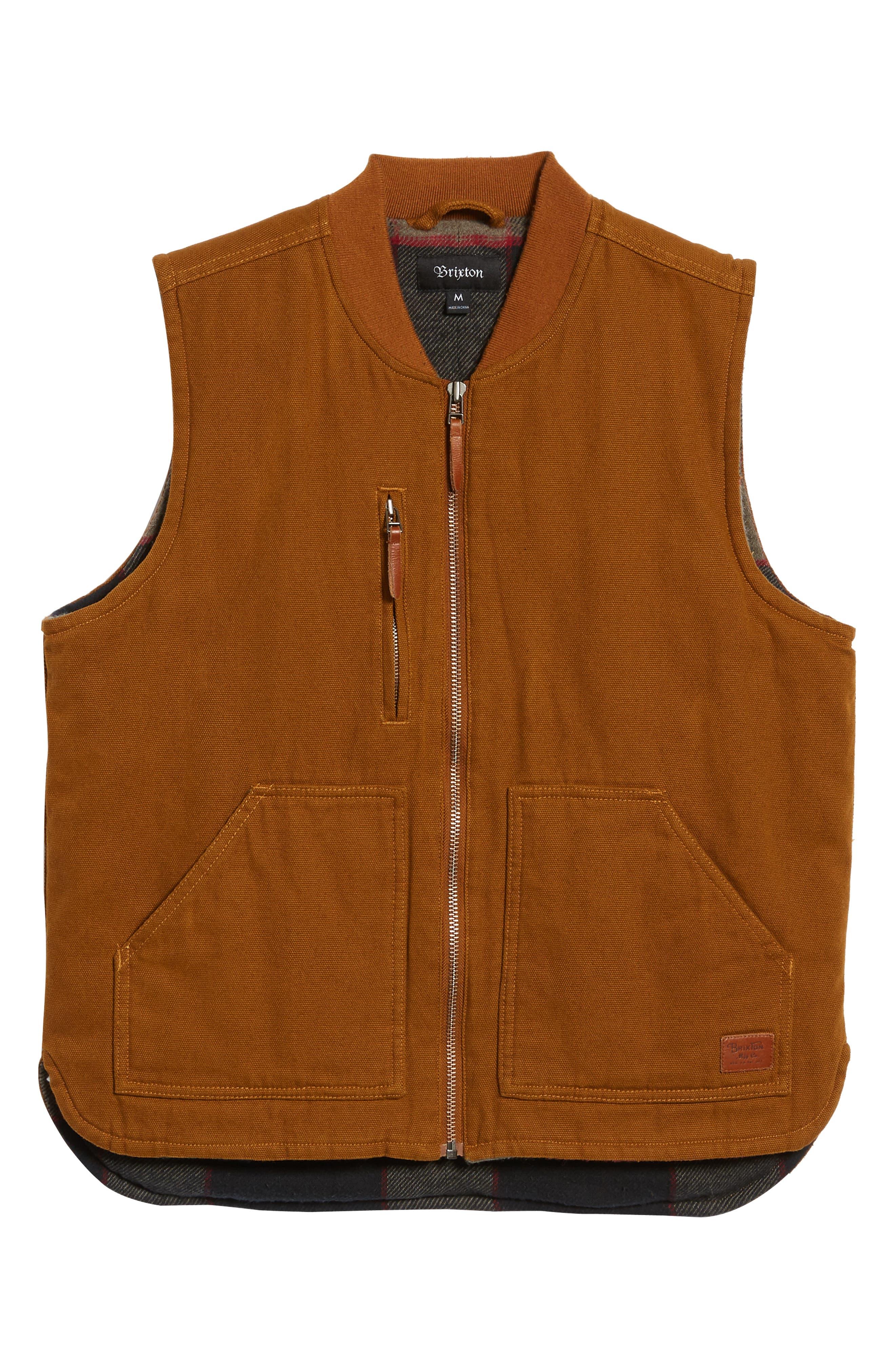 Abraham Water Resistant Vest,                             Alternate thumbnail 5, color,                             COPPER