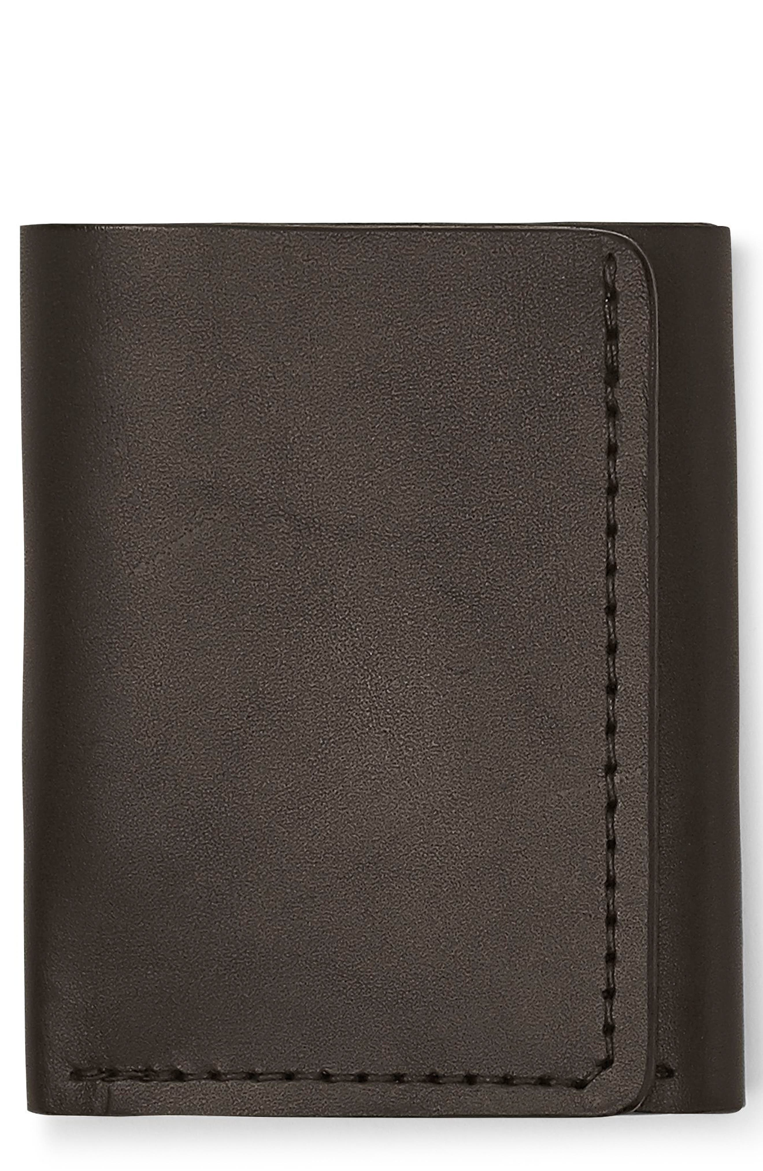 Leather Trifold Leather Wallet,                             Main thumbnail 3, color,