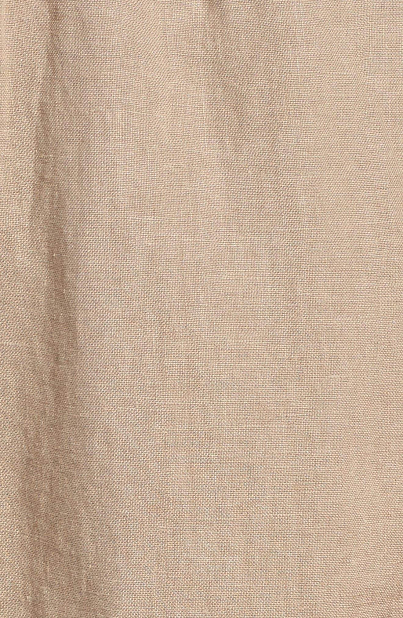 Linen Crop Pants,                             Alternate thumbnail 32, color,