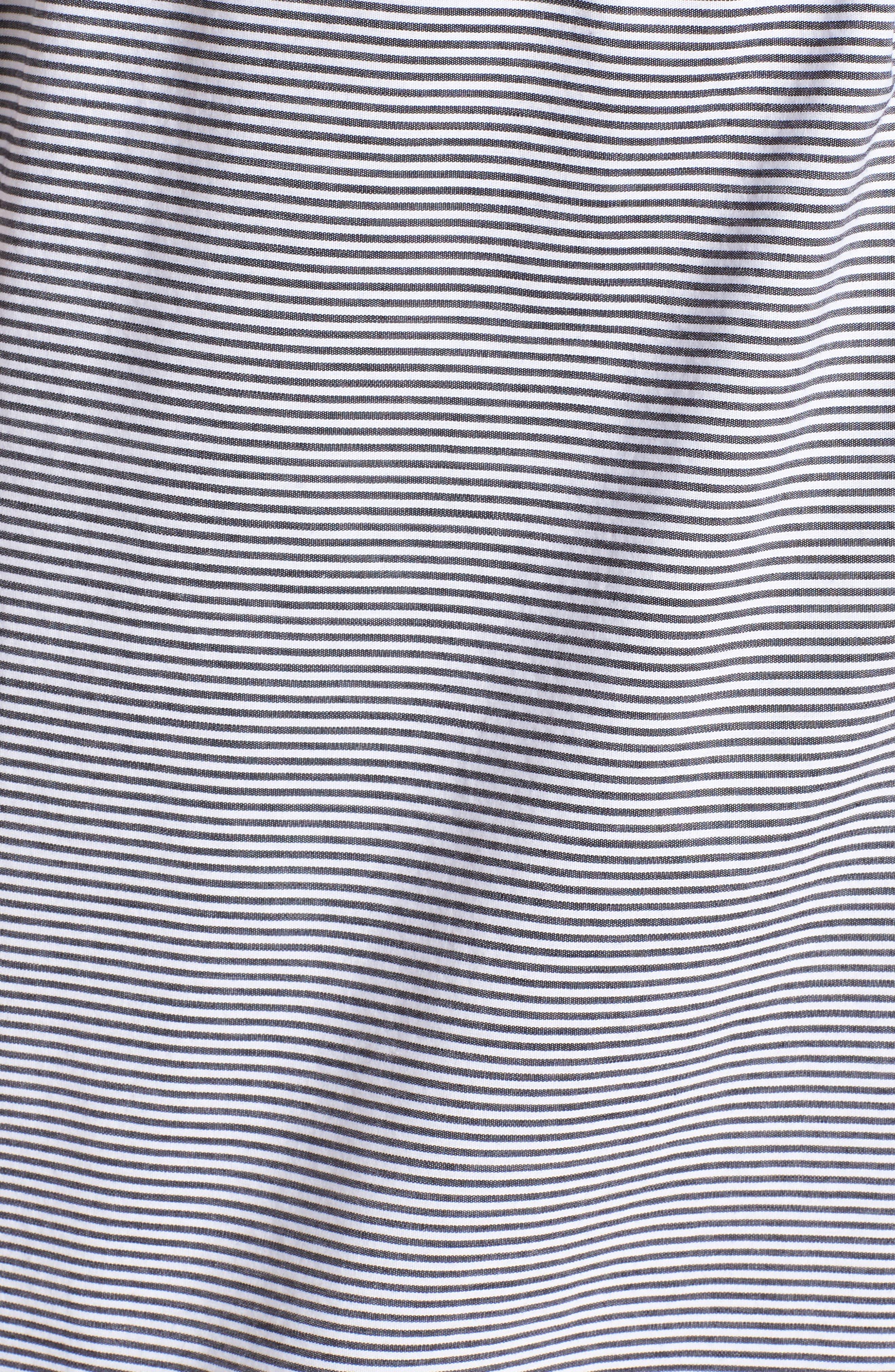 Striped Maxi Dress,                             Alternate thumbnail 6, color,                             002