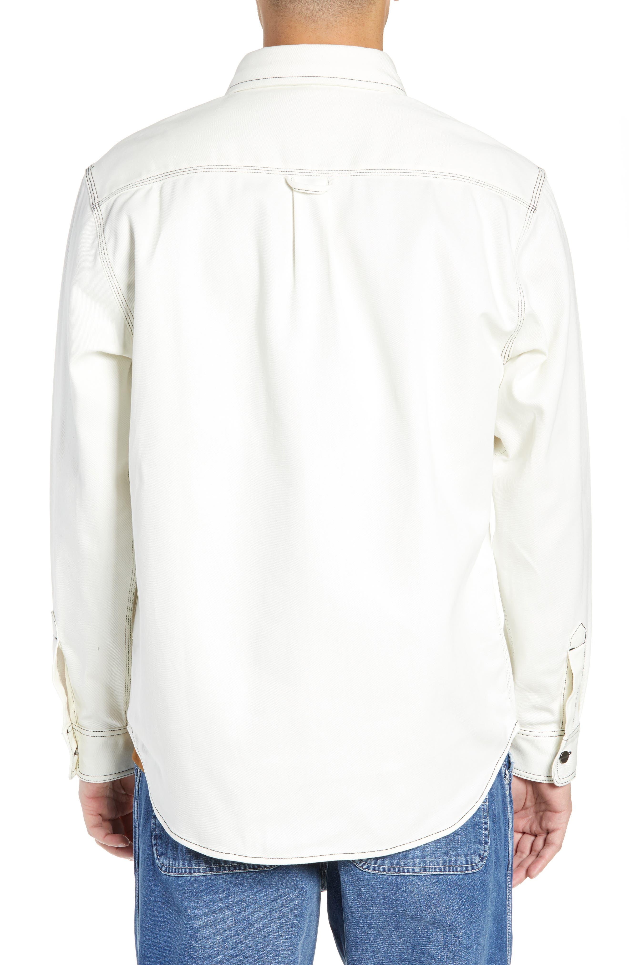 Shirt Jacket,                             Alternate thumbnail 3, color,                             WAX