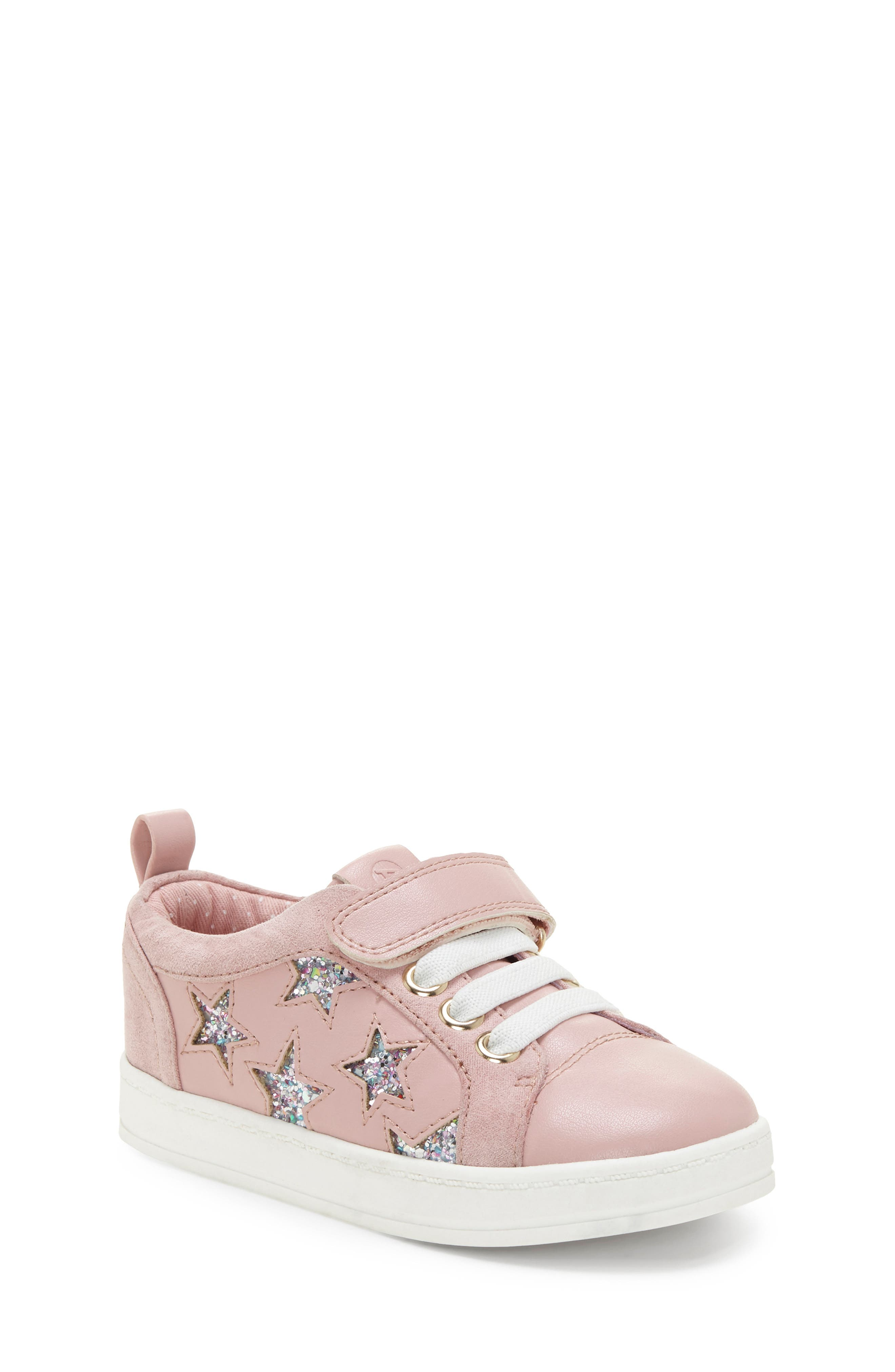 Infant Girls Sole Play Glitter Star Sneaker Size 4 M  Pink