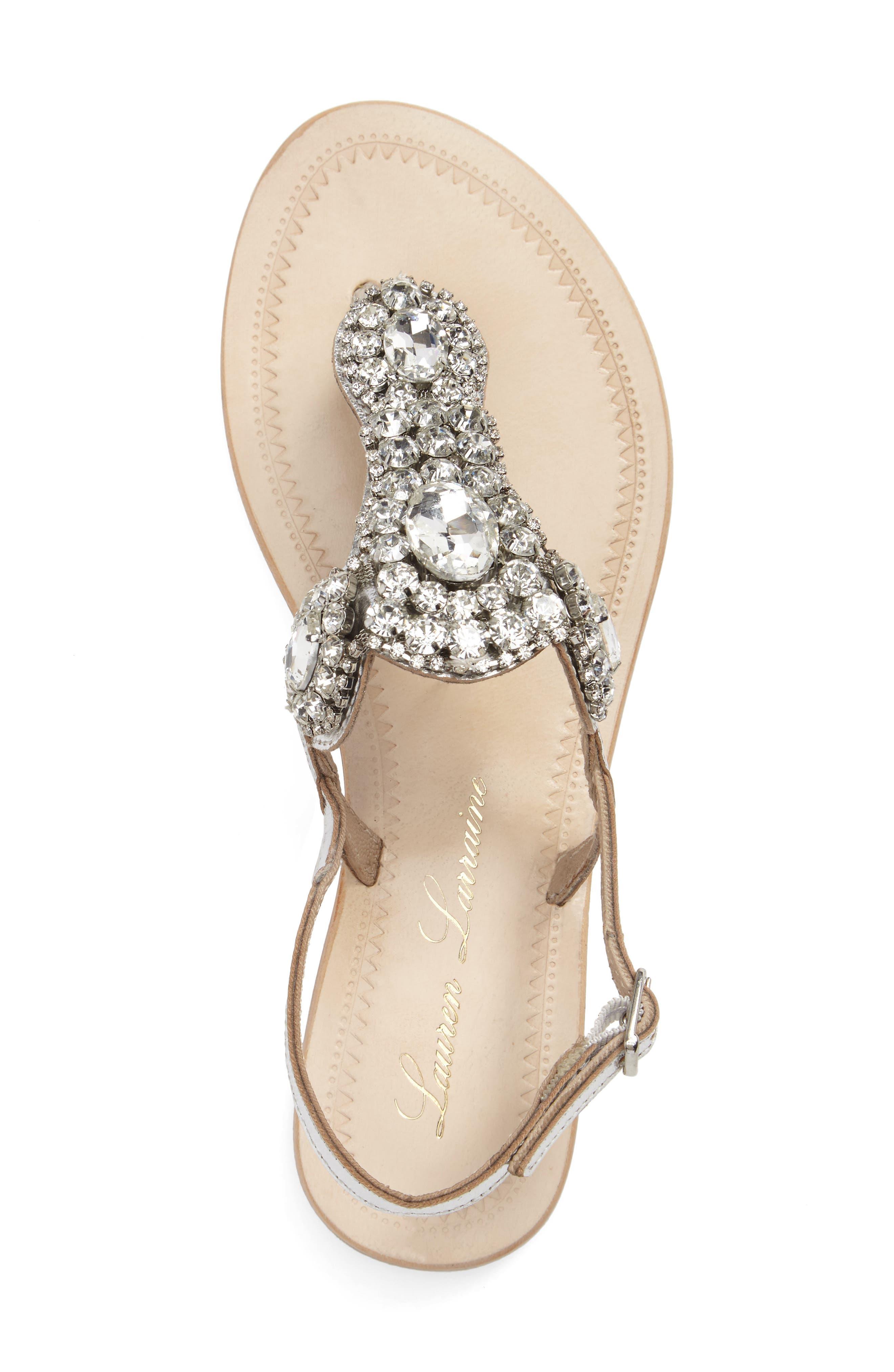 Bahama Crystal Embellished Sandal,                             Alternate thumbnail 5, color,                             045