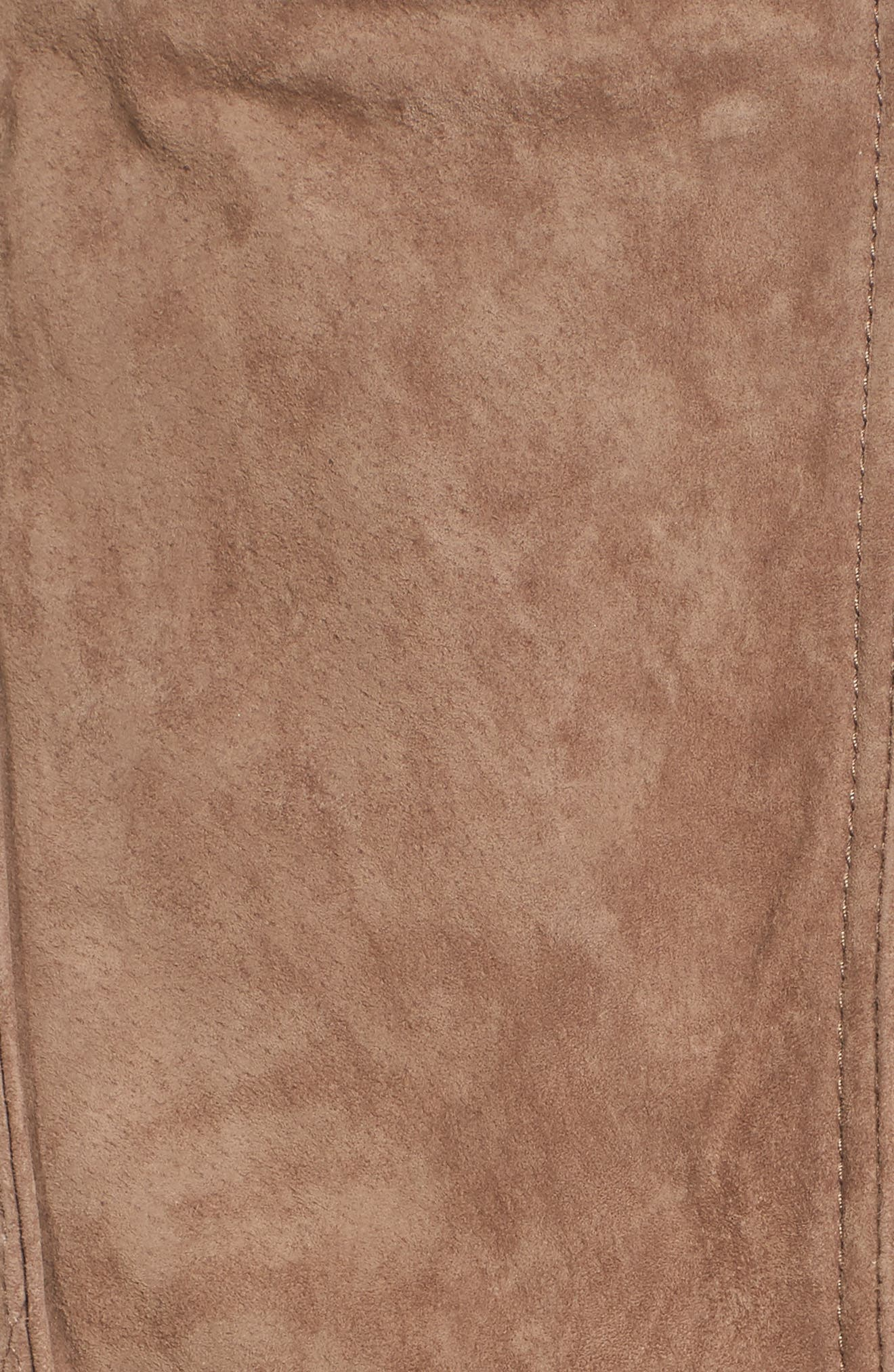 Crop Suede Moto Jacket,                             Alternate thumbnail 6, color,                             250