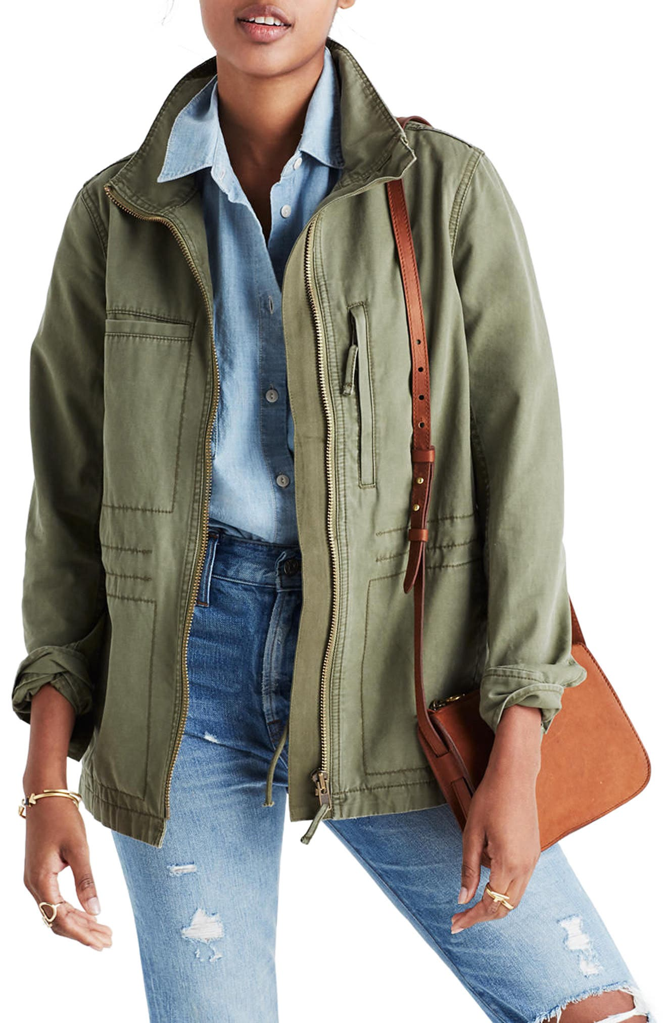 Fleet Jacket,                         Main,                         color, DESERT OLIVE