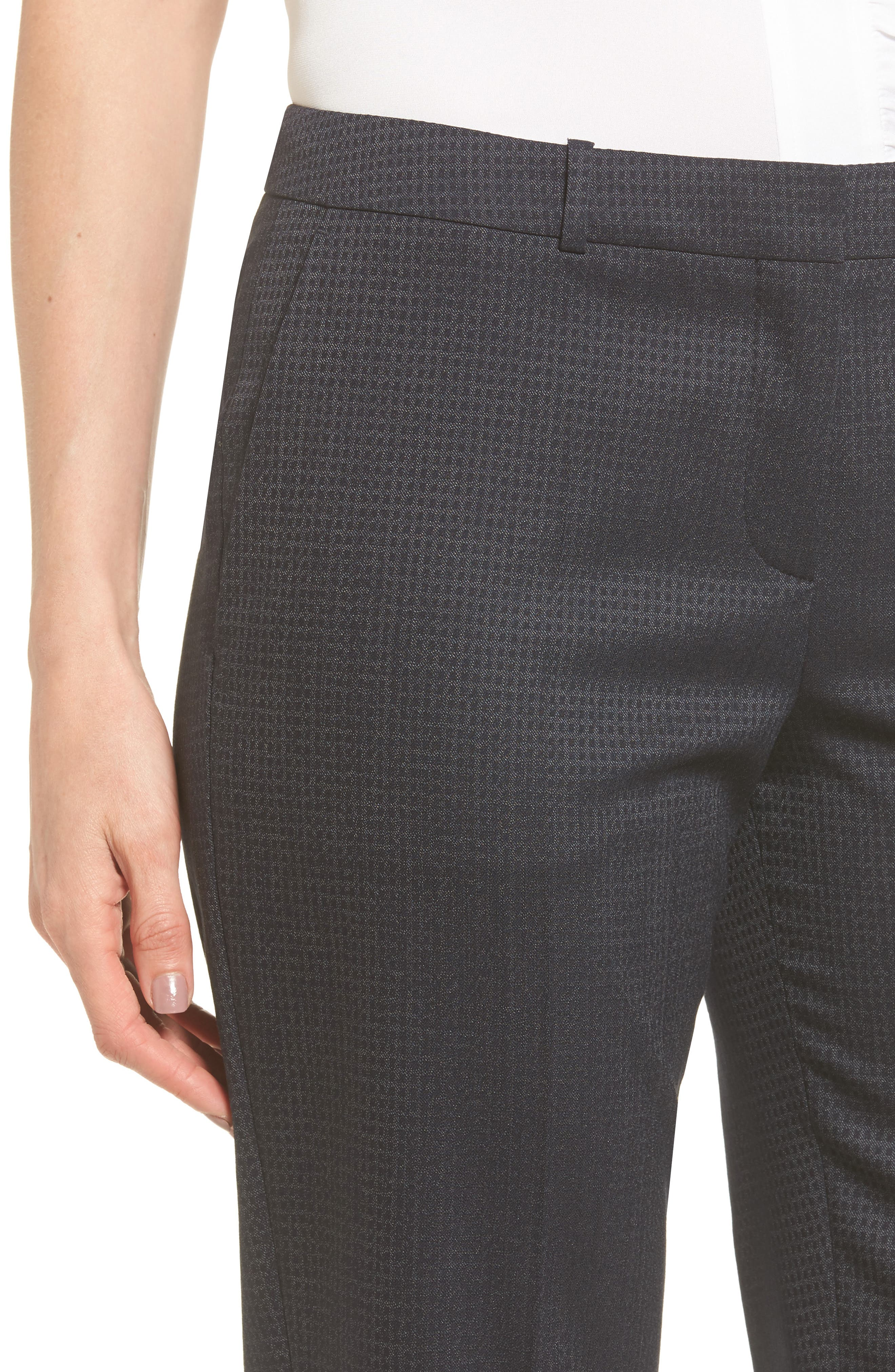 Tamea Stretch Wool Straight Leg Trousers,                             Alternate thumbnail 4, color,