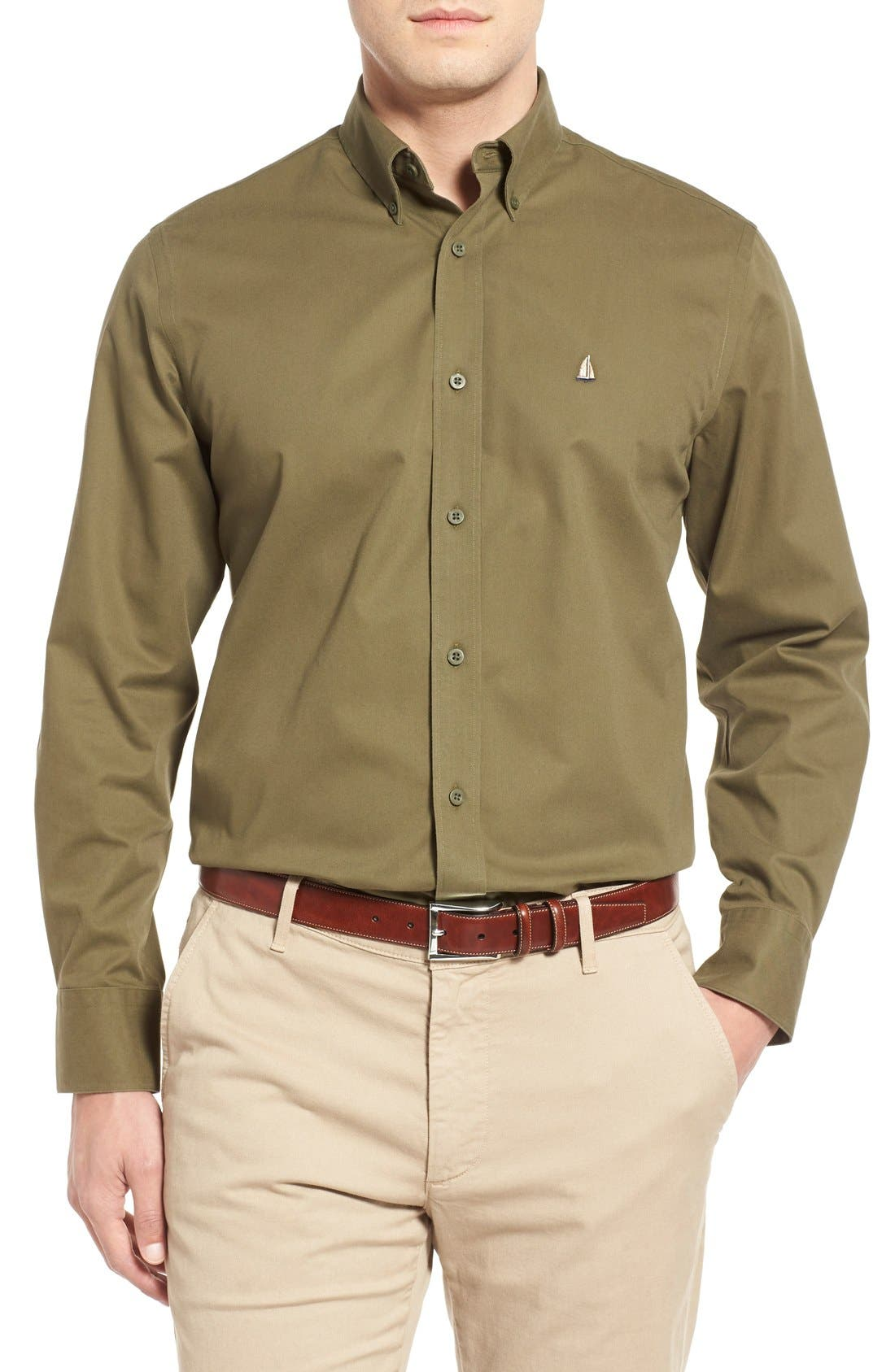 Smartcare<sup>™</sup> Traditional Fit Twill Boat Shirt,                             Main thumbnail 15, color,