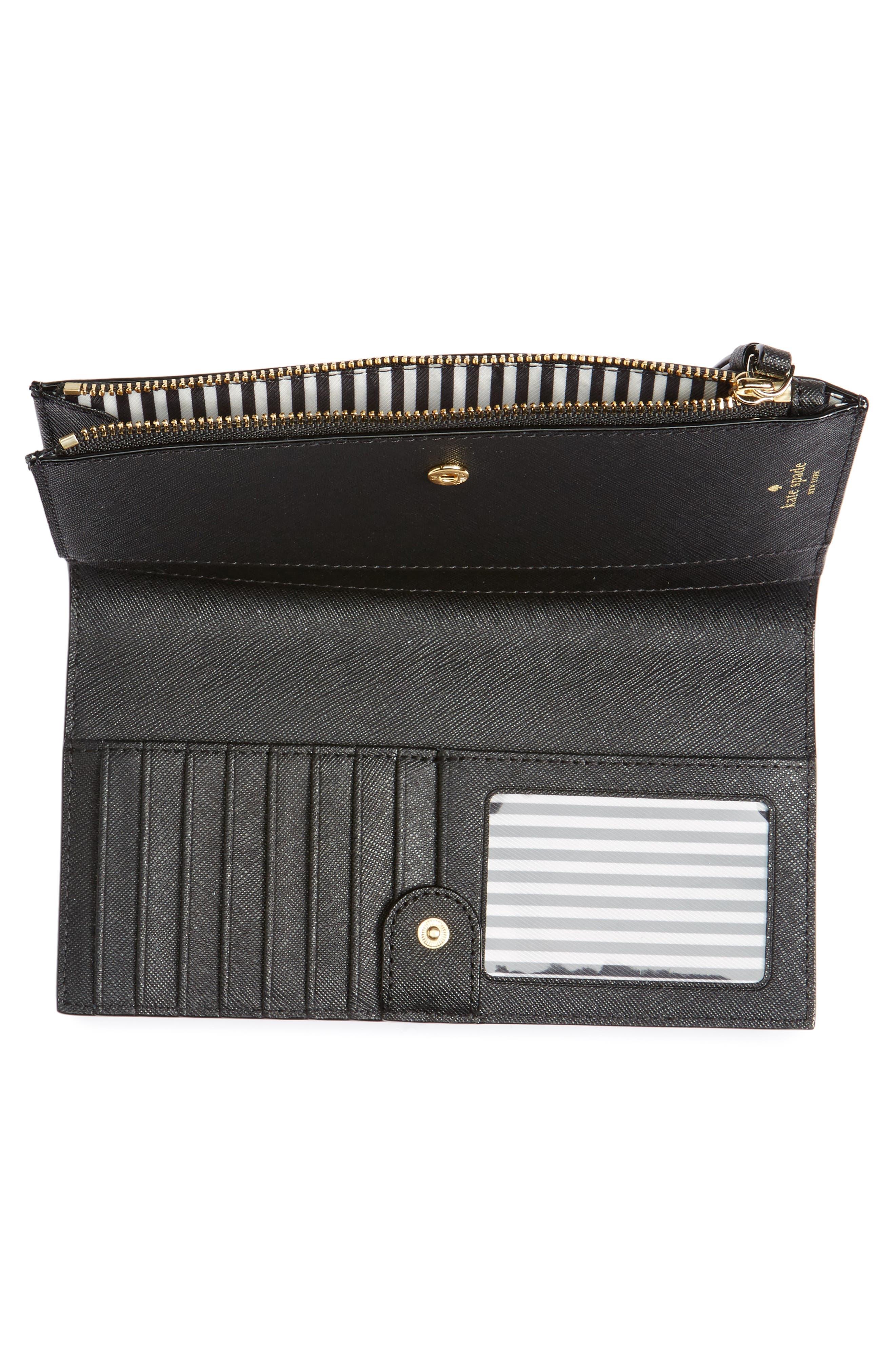 cameron street - eliza leather wallet,                             Alternate thumbnail 4, color,                             BLACK