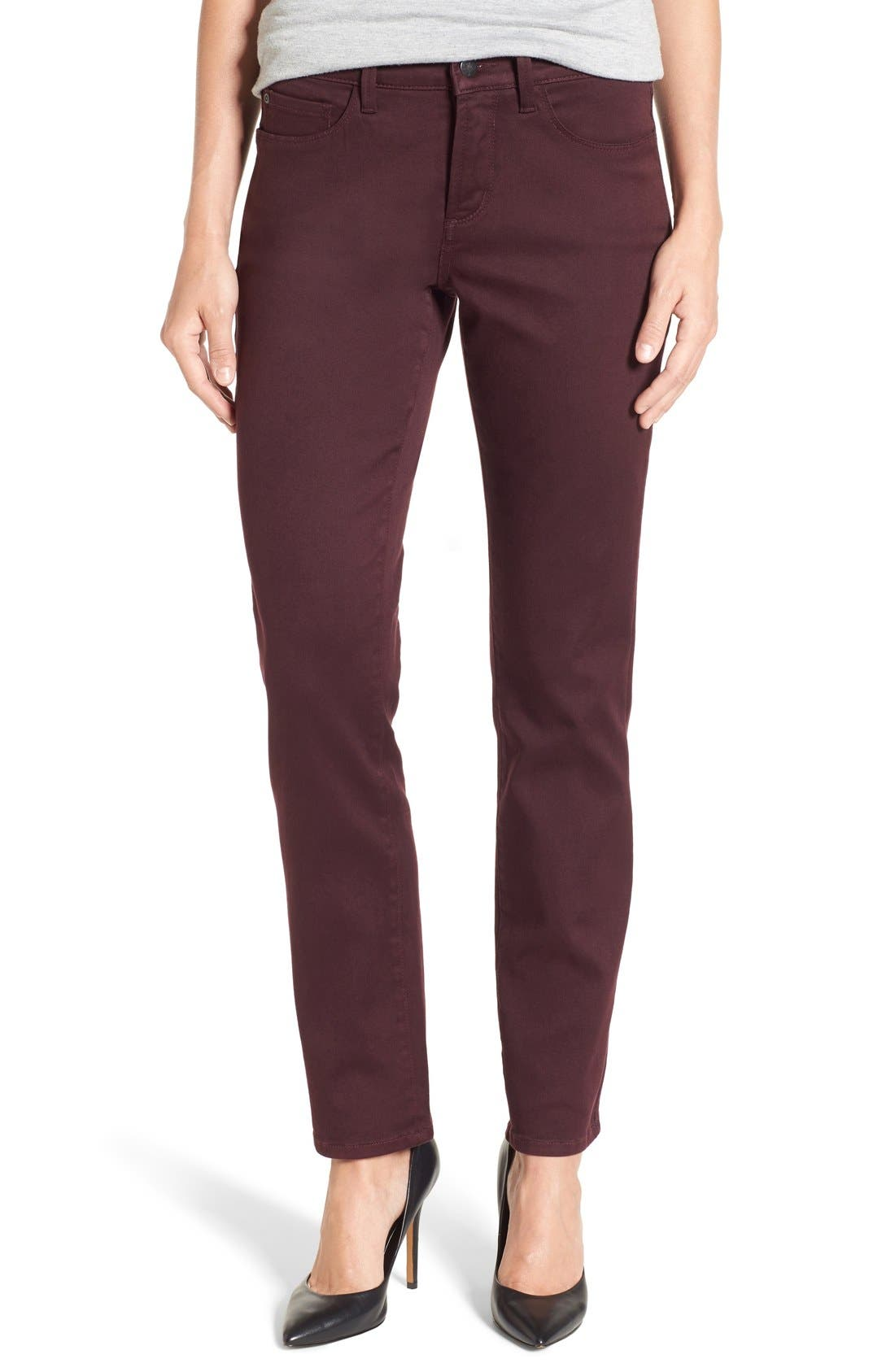 'Sheri' Stretch Twill Slim Leg Pants,                             Main thumbnail 4, color,