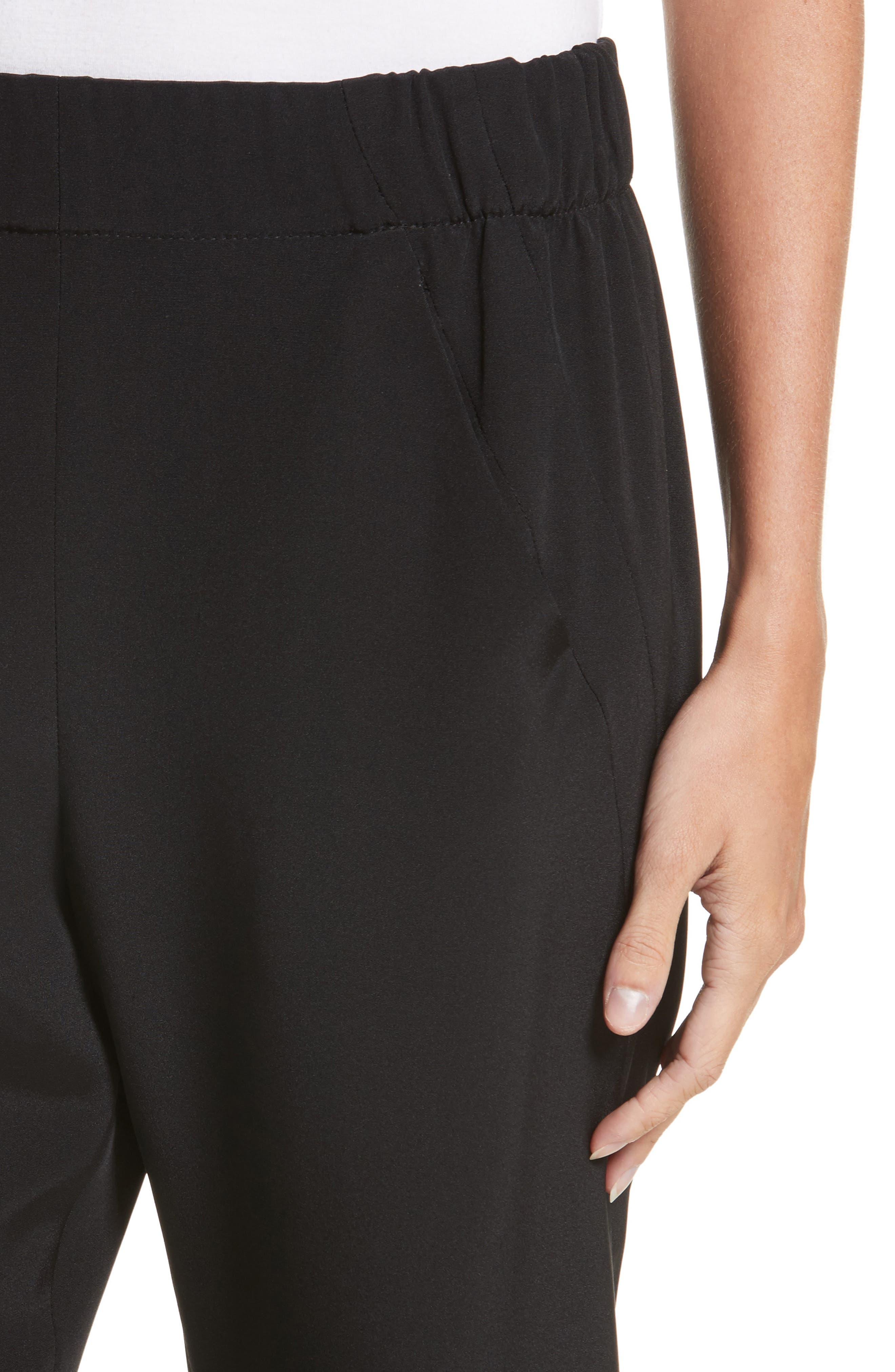 Elli Slim Leg Pants,                             Alternate thumbnail 4, color,                             BLACK