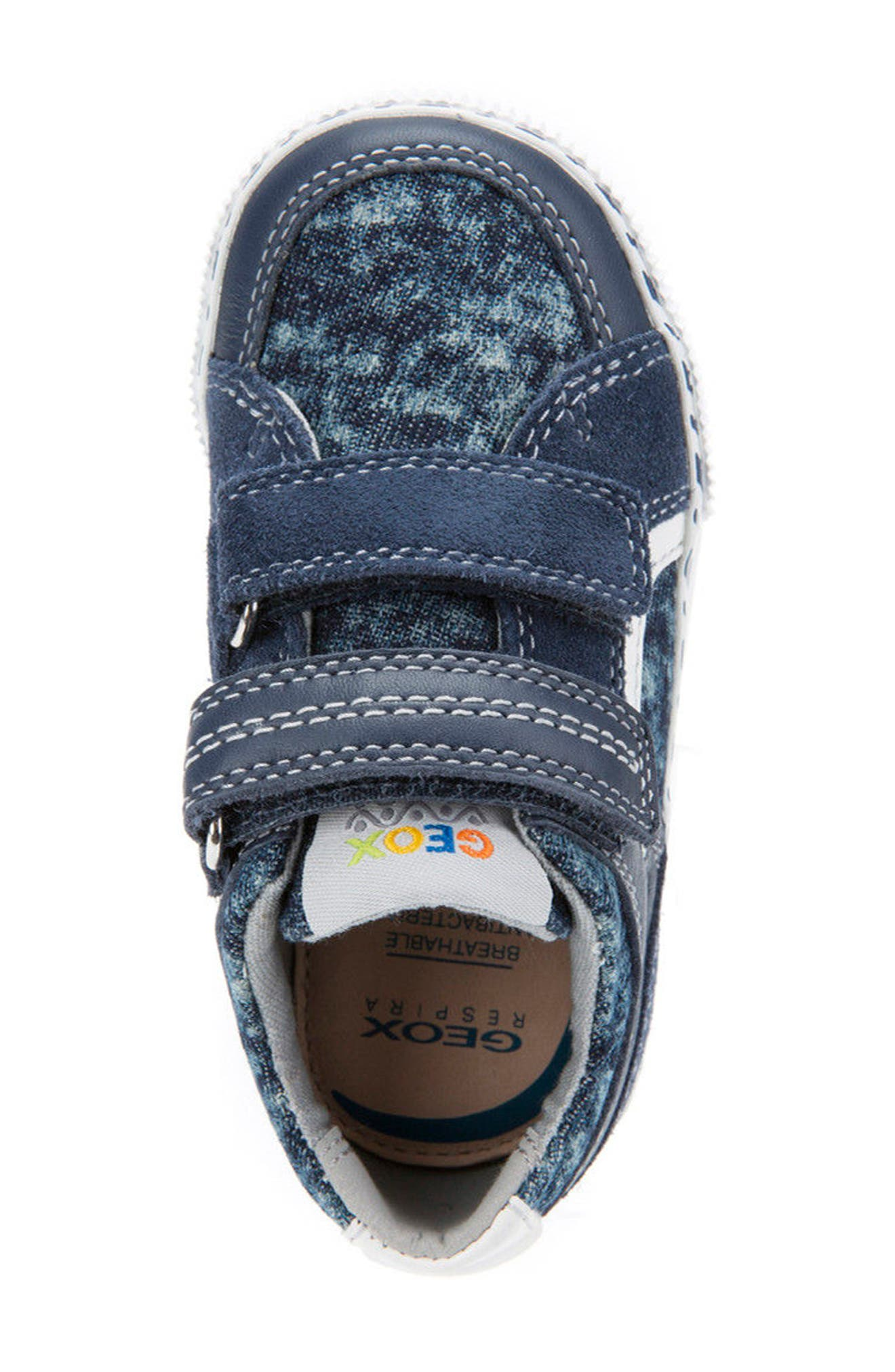 Kilwi Knit Sneaker,                             Alternate thumbnail 5, color,                             NAVY/ WHITE