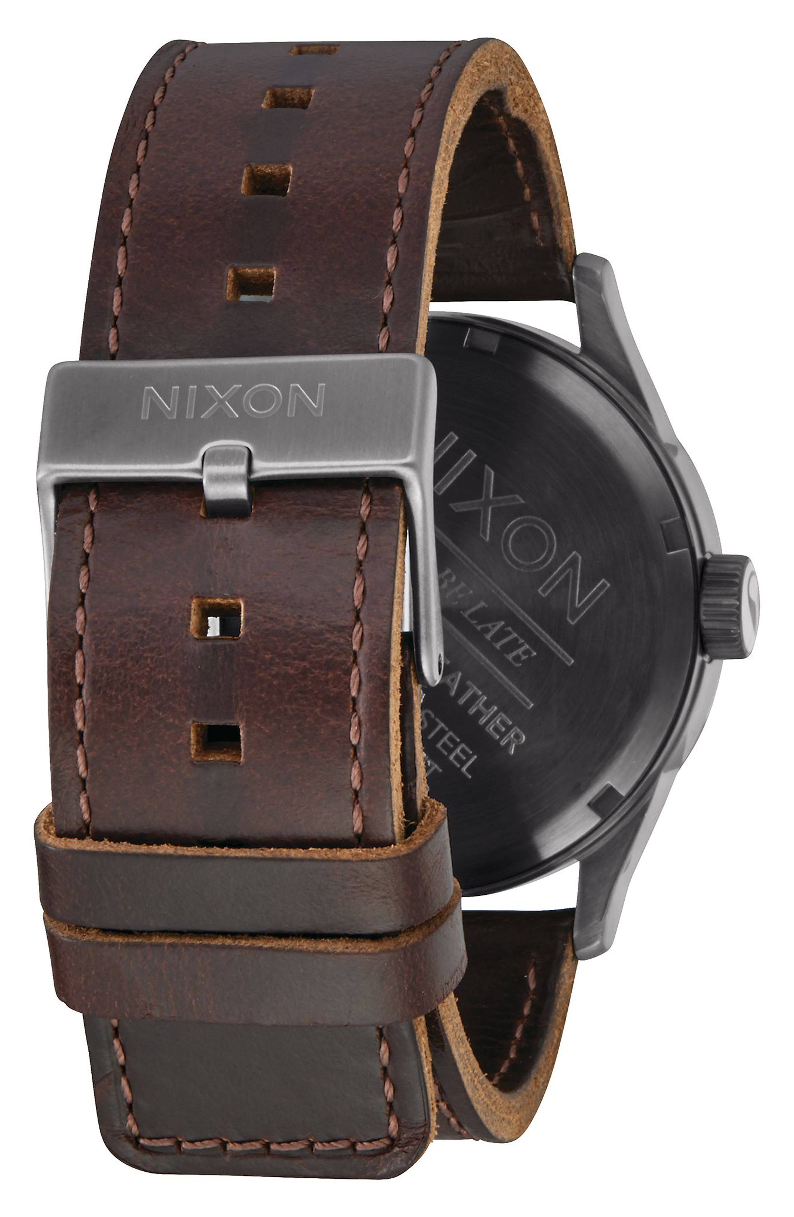 The Sentry Leather Strap Watch, 42mm,                             Alternate thumbnail 66, color,