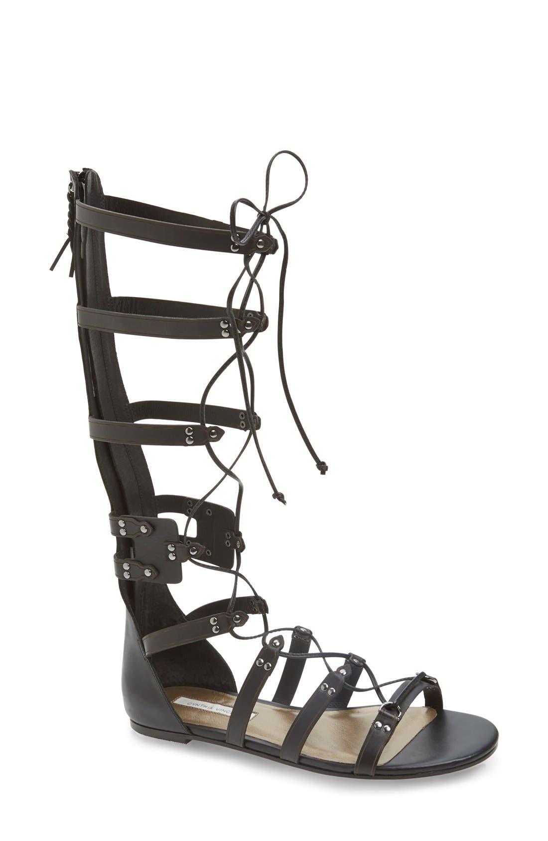 'Franky' Gladiator Sandal, Main, color, 002