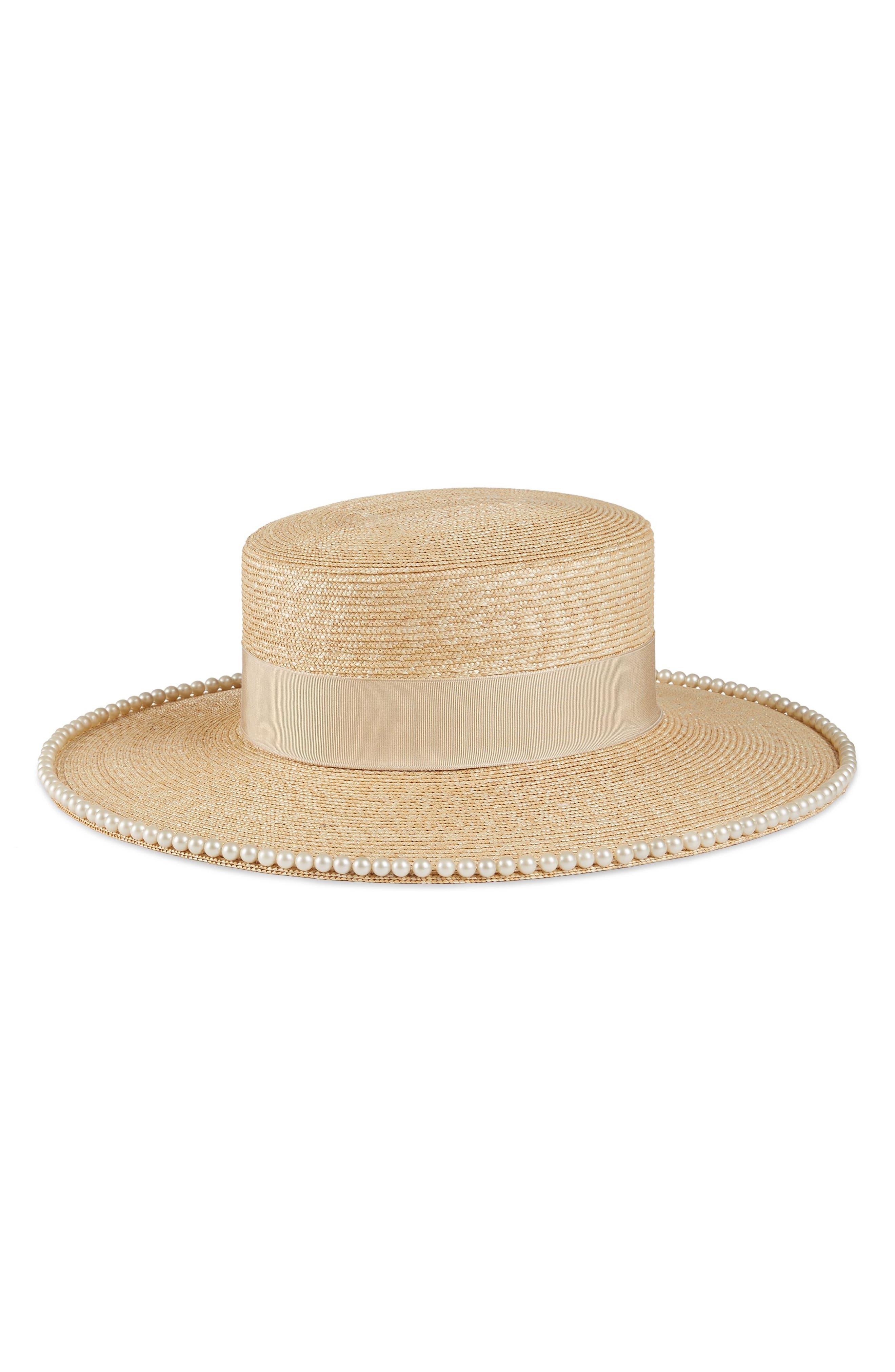 Notte Embellished Straw Hat,                             Alternate thumbnail 2, color,                             155