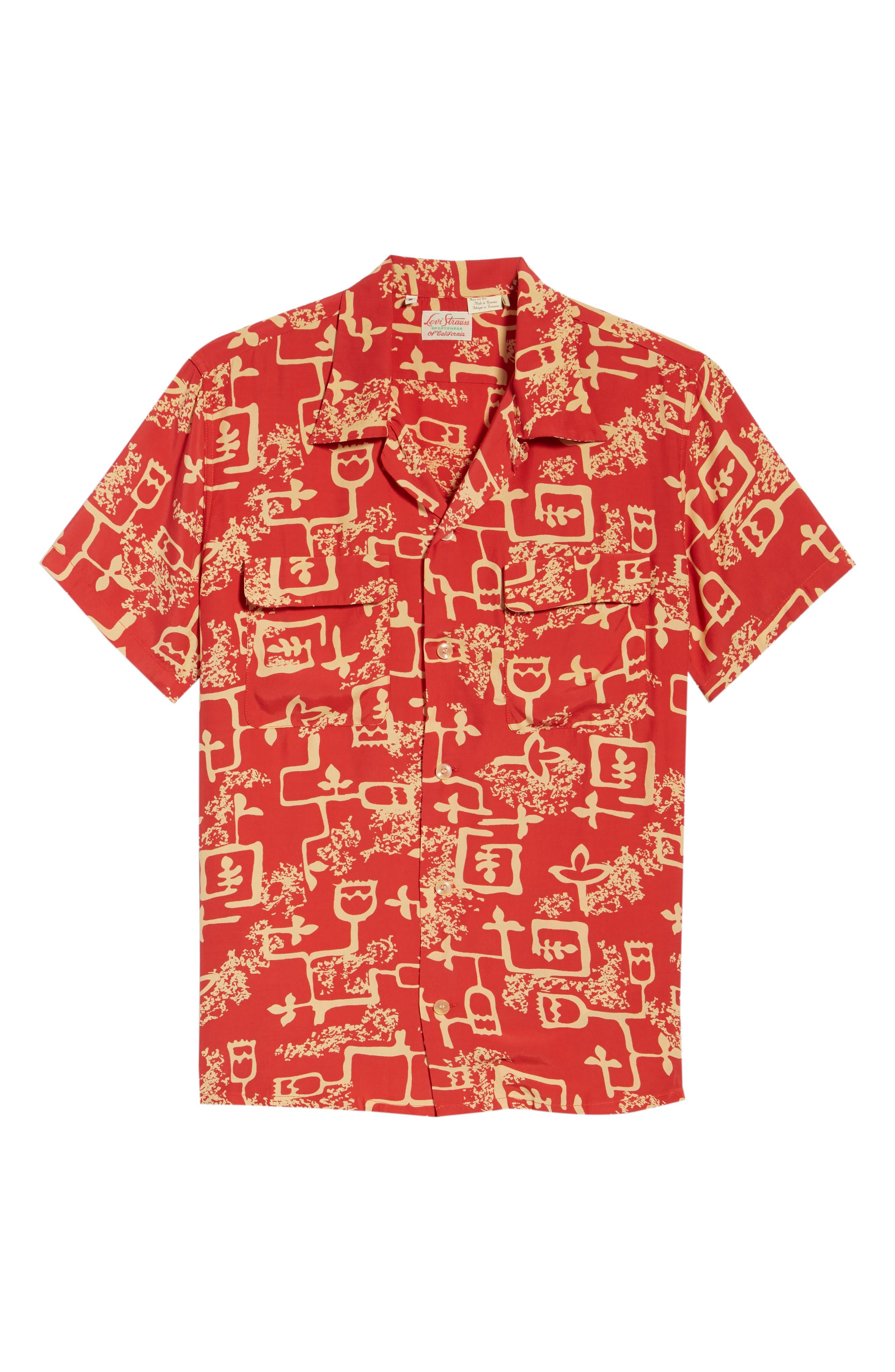 1940's Hawaiian Shirt,                             Alternate thumbnail 6, color,