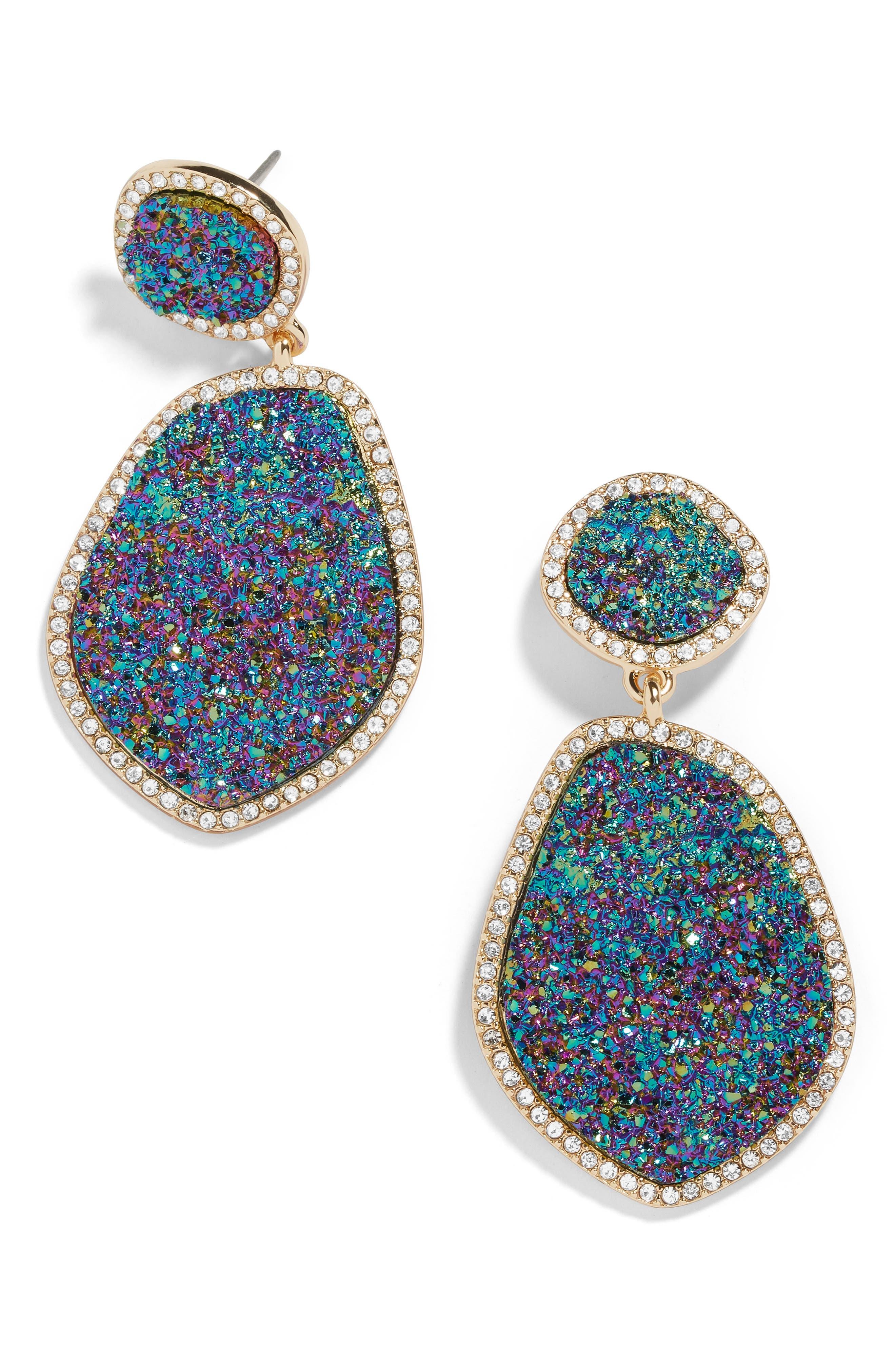 Vina Drop Earrings,                         Main,                         color, OILSLICK